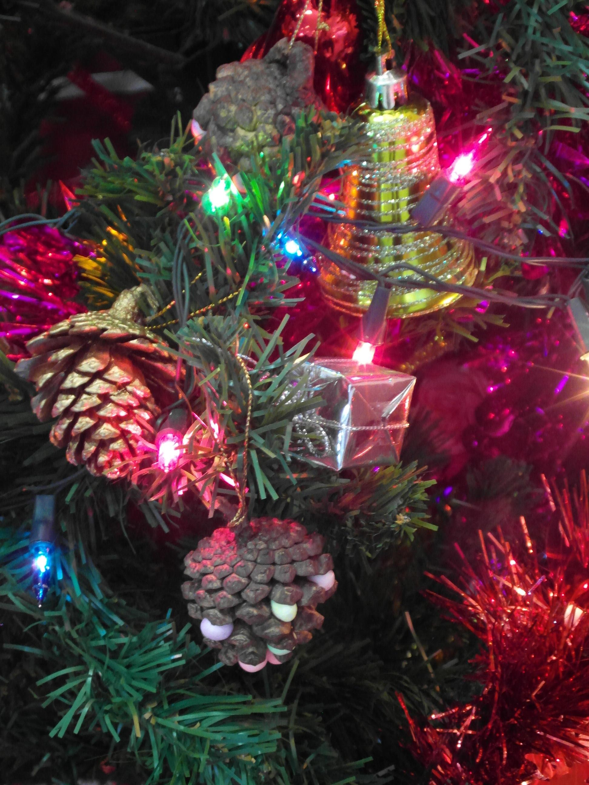 Pine cone xmas decoration photo