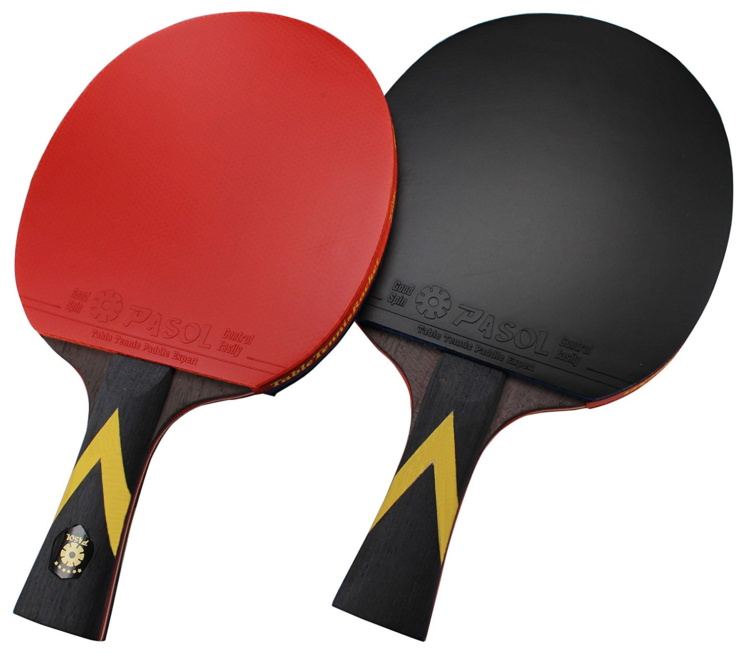 Amazon.com : 2- Player PASOL 7 Star Premium Ping Pong Paddle ...