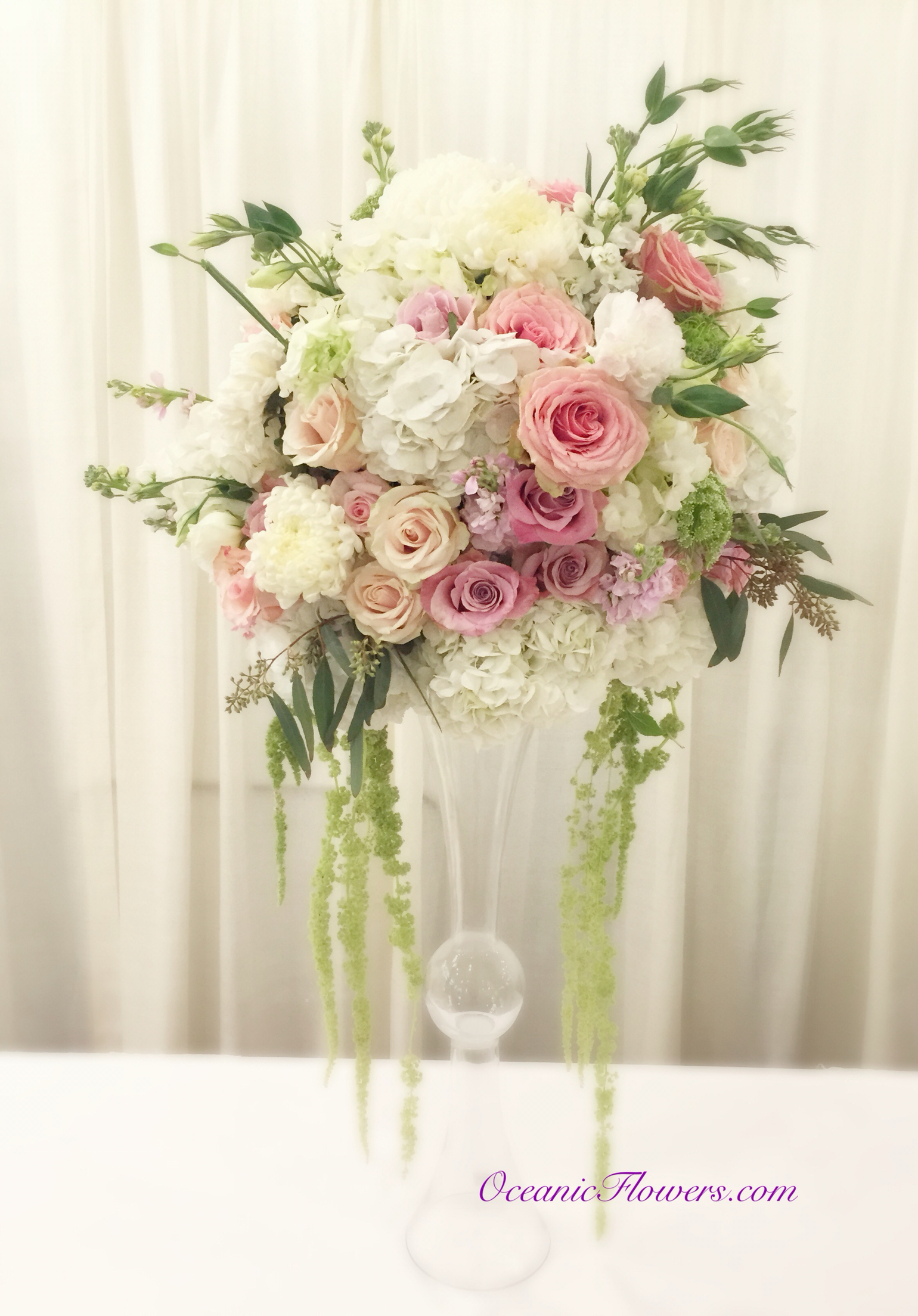 Free Photo Pink And White Rose Flower Arrangement In Vase