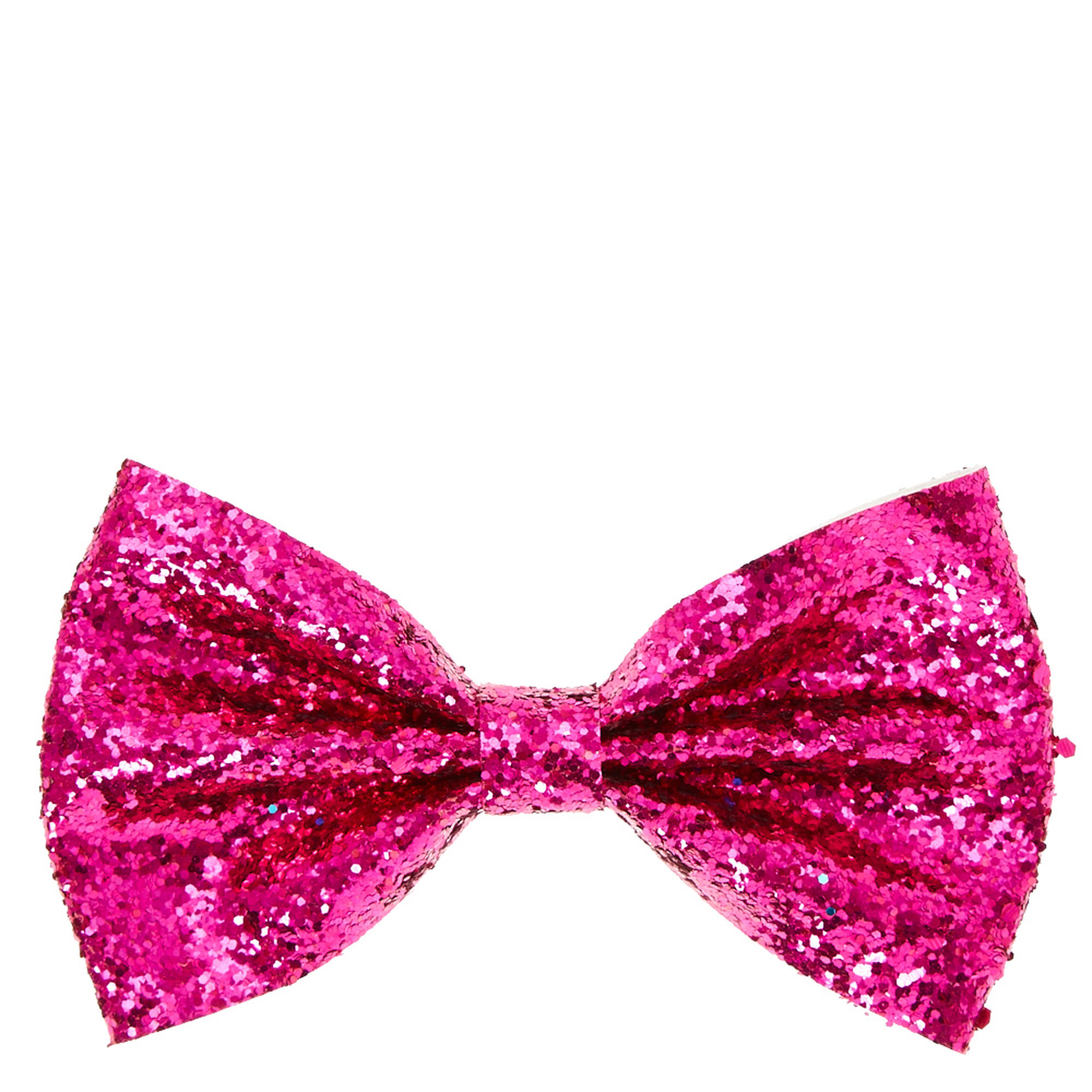 Pink Glitter Bow Clip | Claire's US