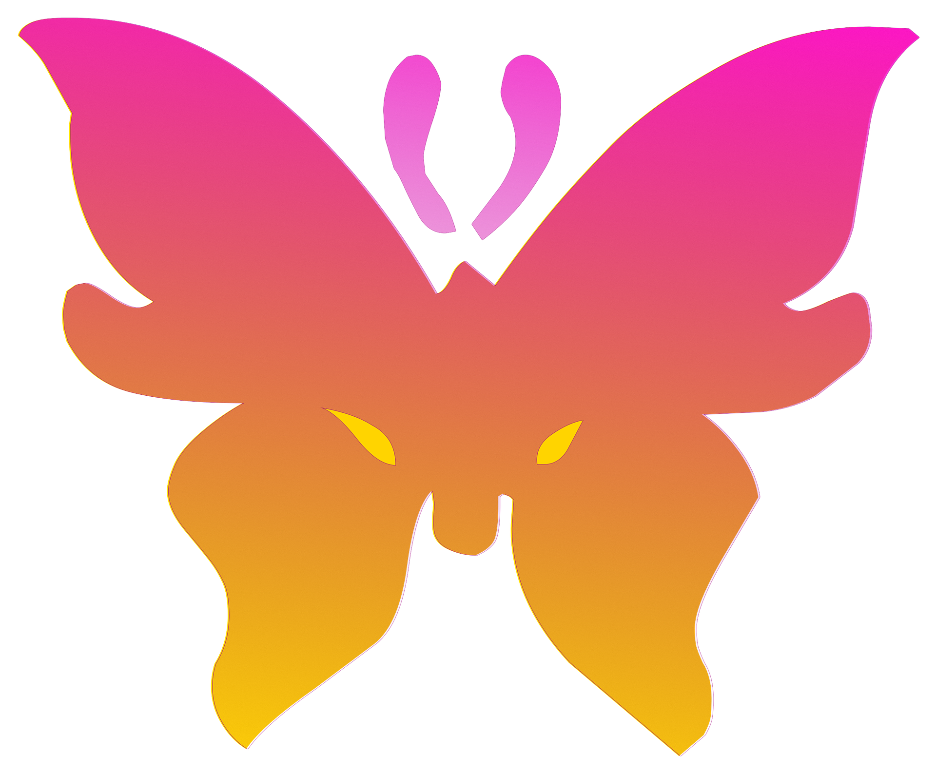 Pink butterfly photo