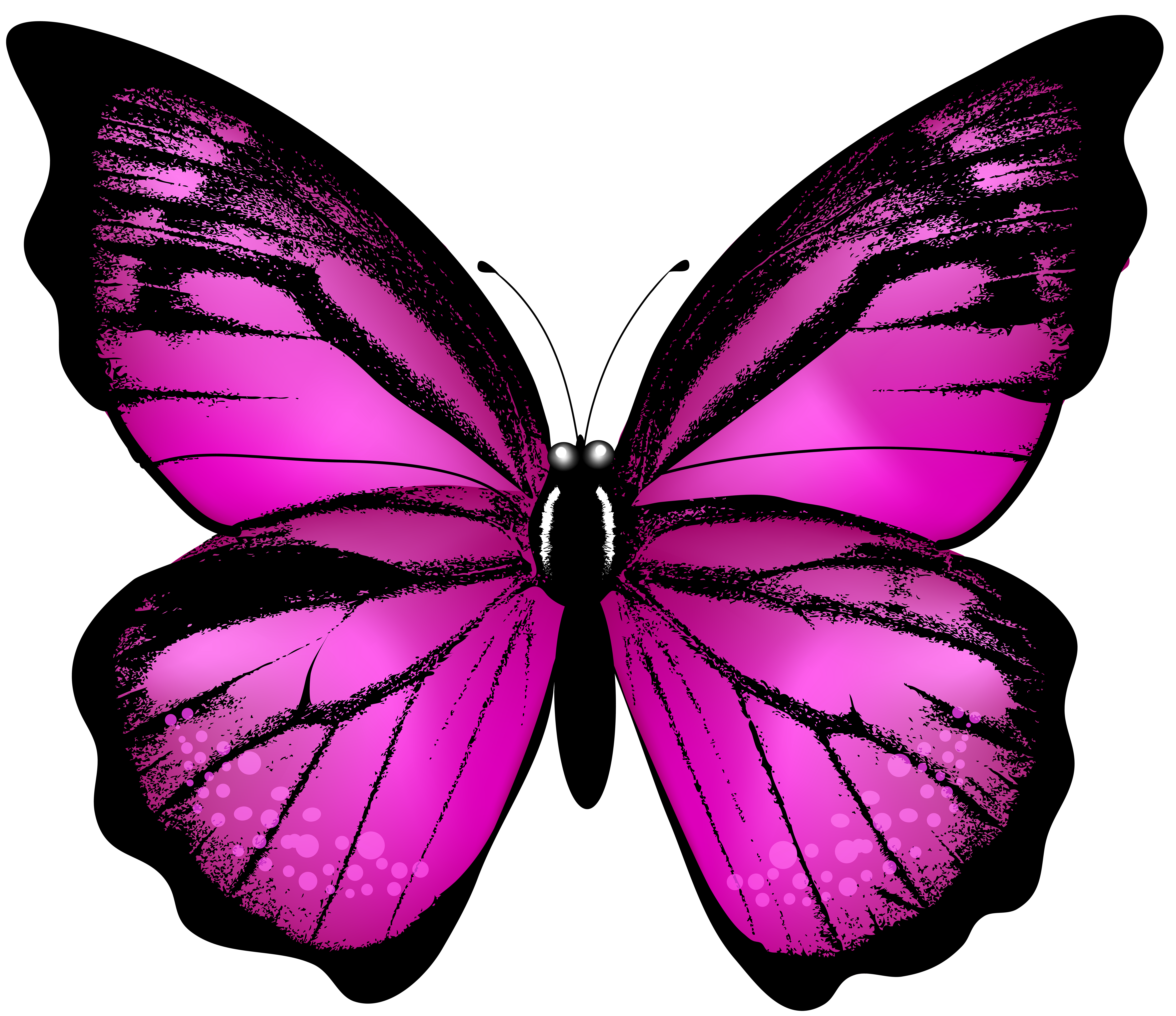 Pink Butterfly Transparent Clip Art Image | Gallery Yopriceville ...
