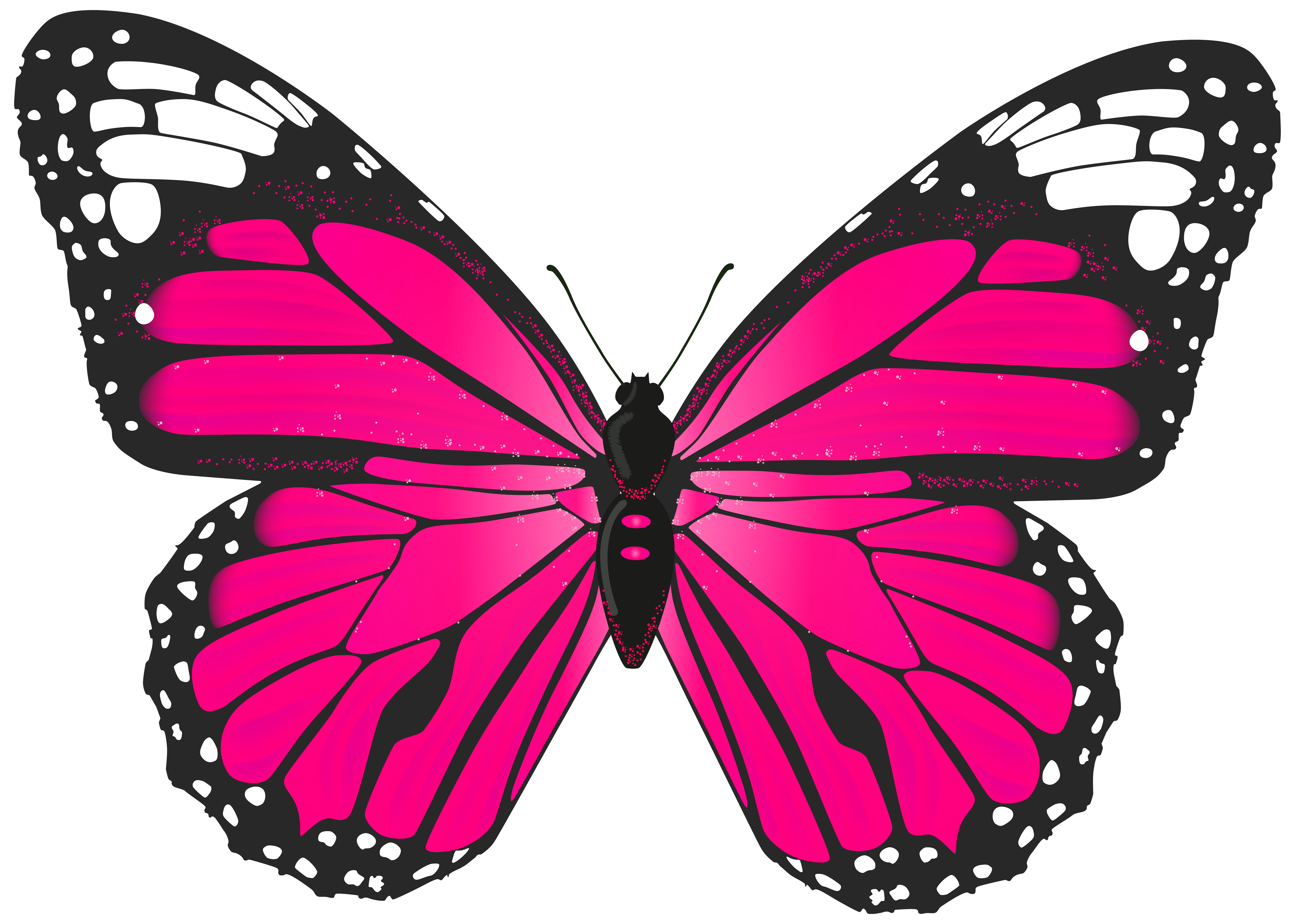 Pink Butterfly PNG Transparent Clip Art Image | Gallery ...