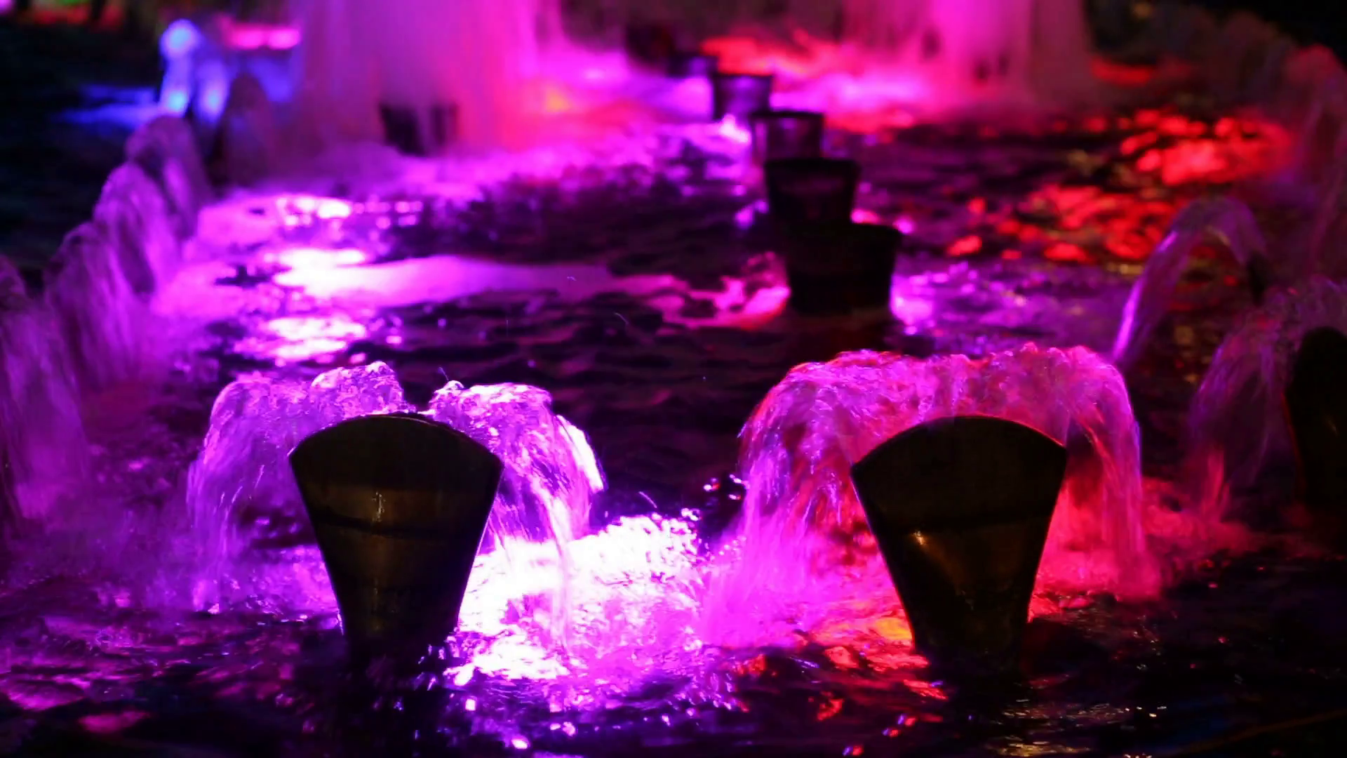 Beautiful water fountain flowing at night Stock Video Footage ...