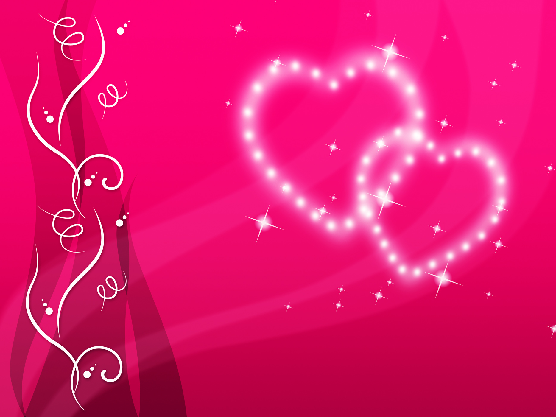 Pink Hearts Background Means Love Family And Floral, Affection, Lover, Twinkling, Tenderness, HQ Photo