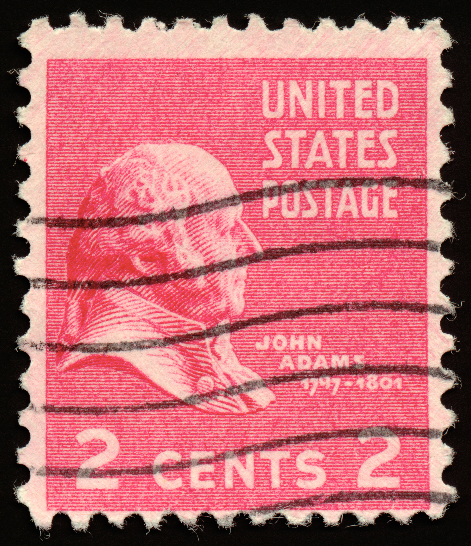 Pink john adams stamp photo