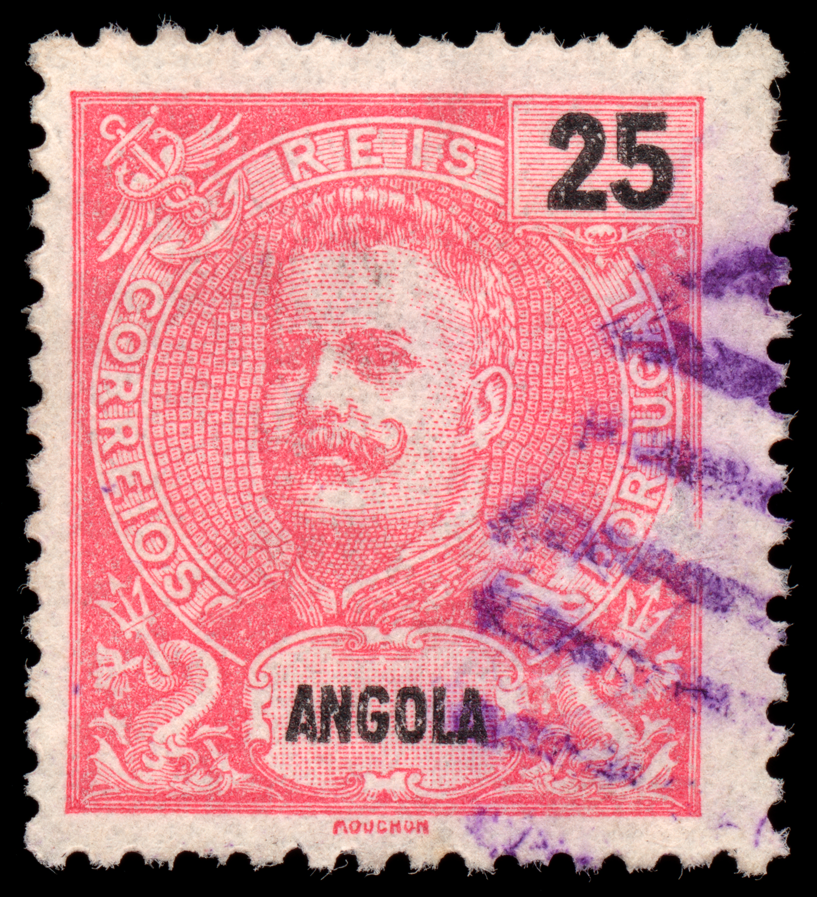 Pink king carlos i stamp photo