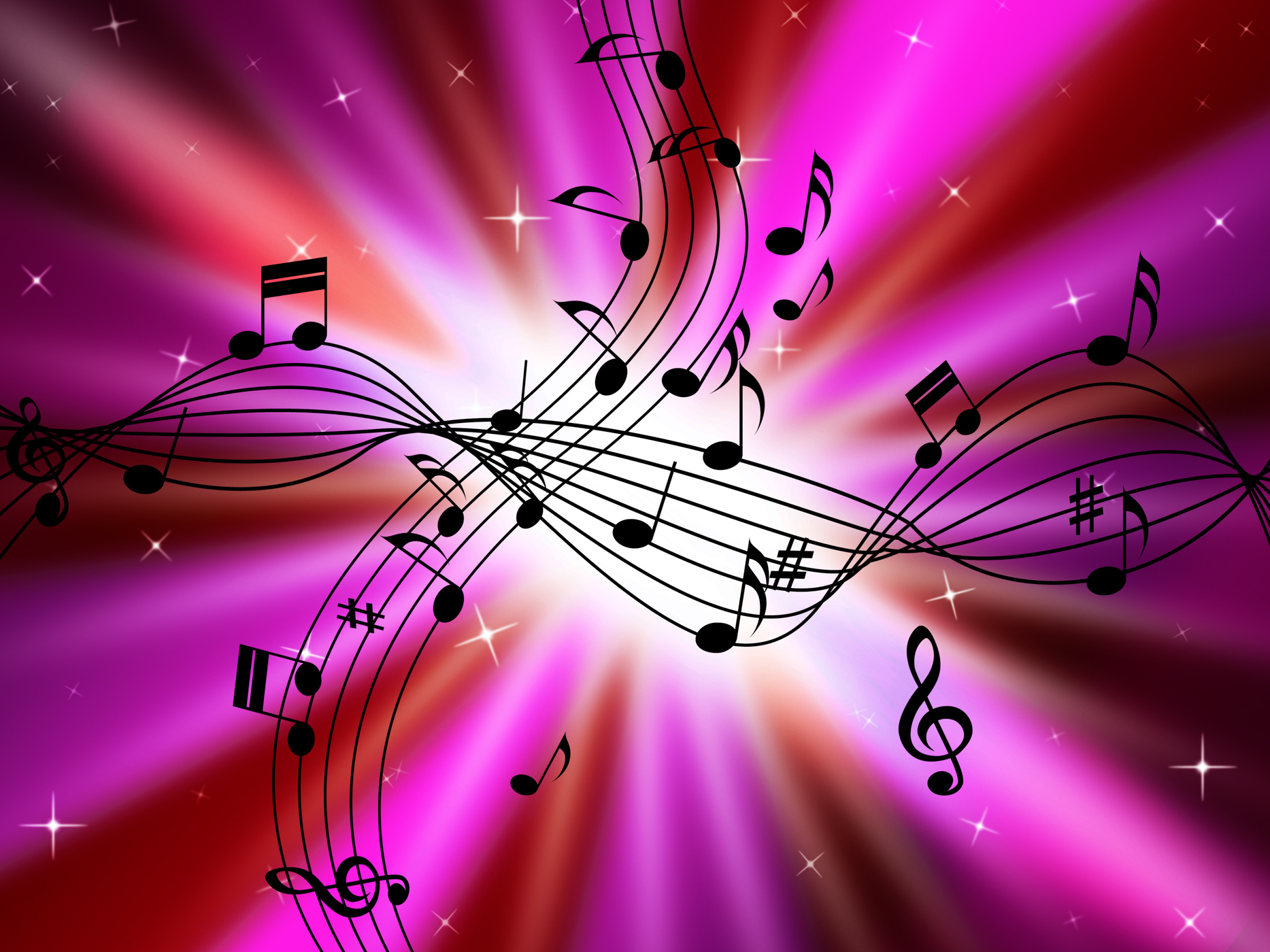 Pink Music Wallpaper: Free Photo: Pink Music Background Shows Musical