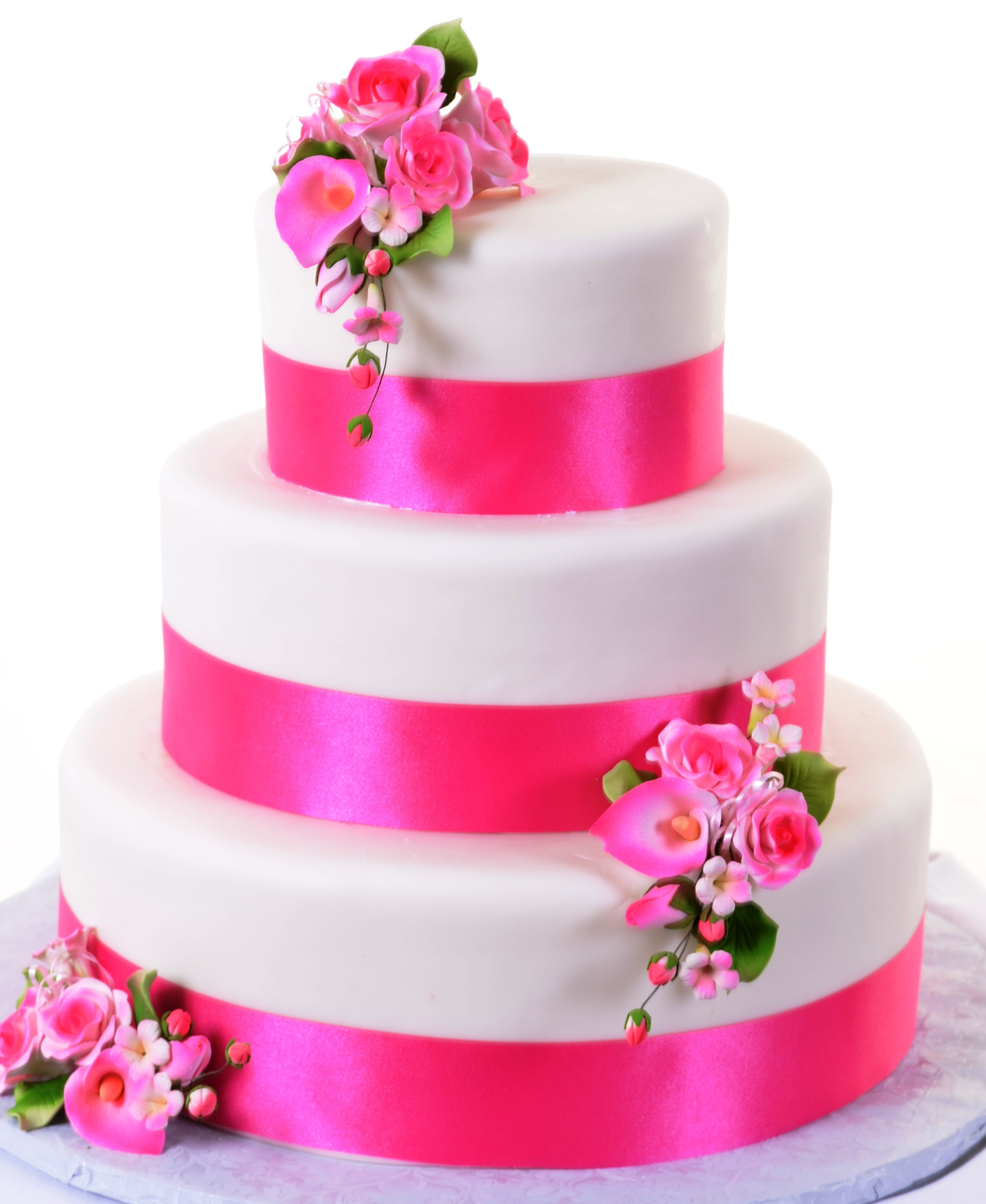 Pink pastry cake photo