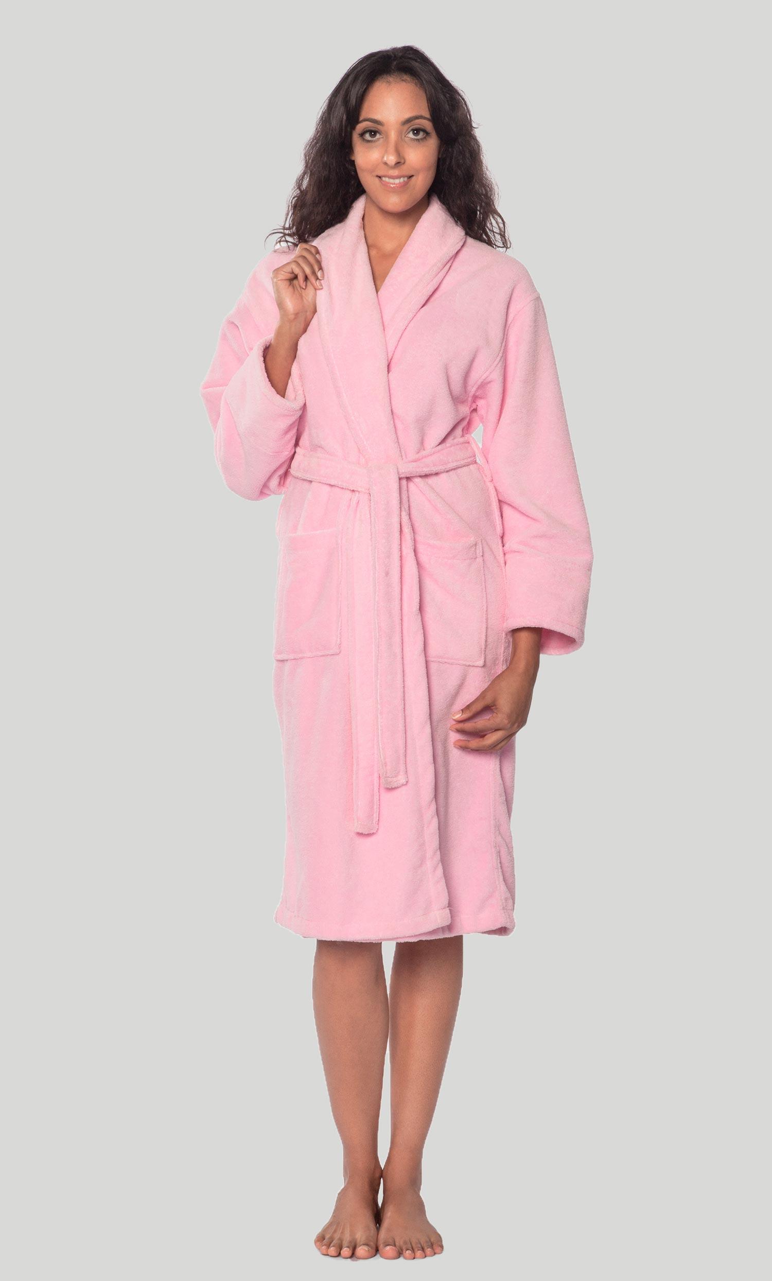 Premium Bathrobes :: Micro Terry Bathrobes :: Pink Terry ...