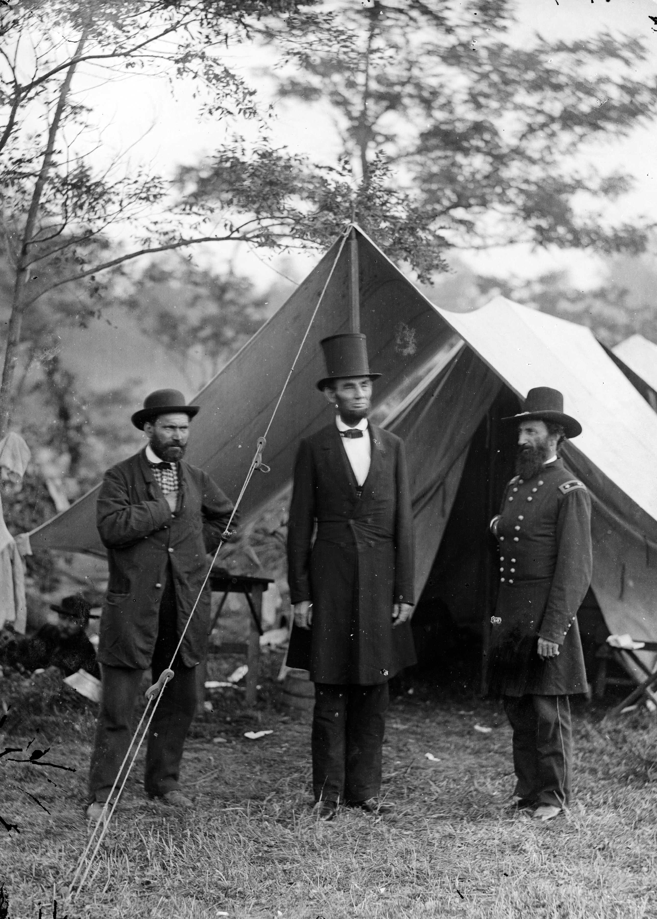 Pinkerton with abraham lincoln photo