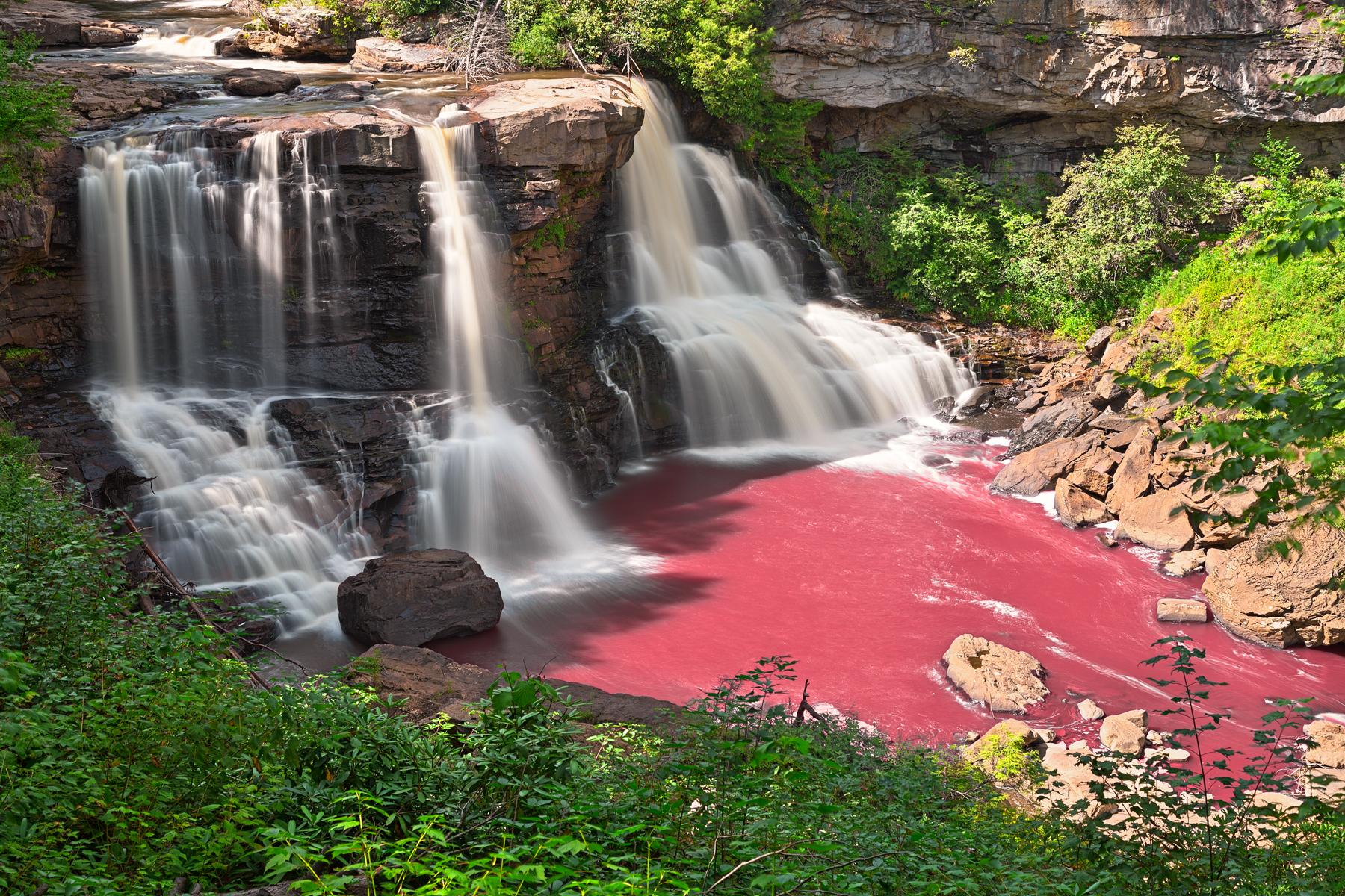 Pinkwater falls - hdr photo