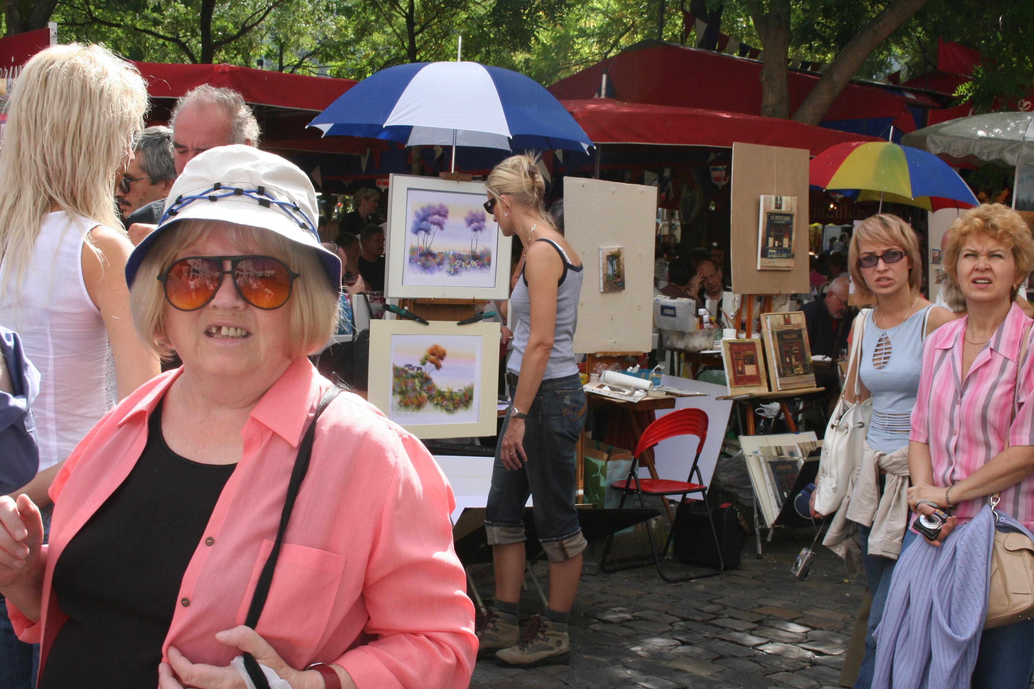 Place du tetre, France, Paintings, Paris, Pedestrians, HQ Photo