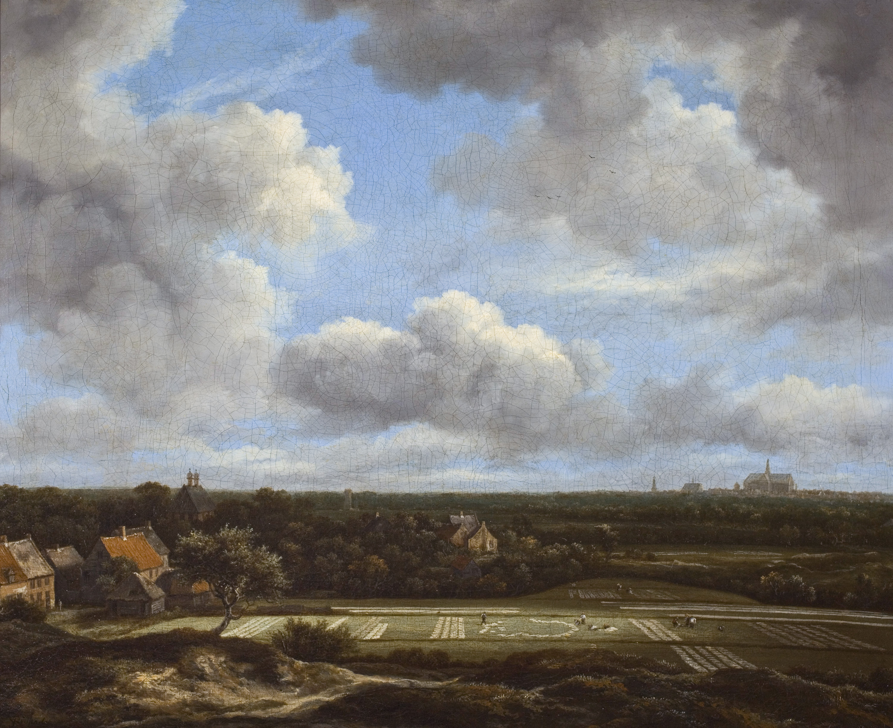 File:View of the plain of Haarlem with bleaching grounds, by Jacob ...
