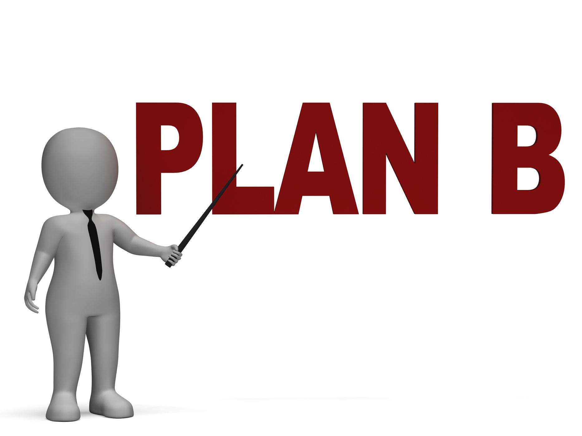 Plan B Shows Alternative Strategy, Adaptation, Flexibility, Strategic, Planningprocess, HQ Photo