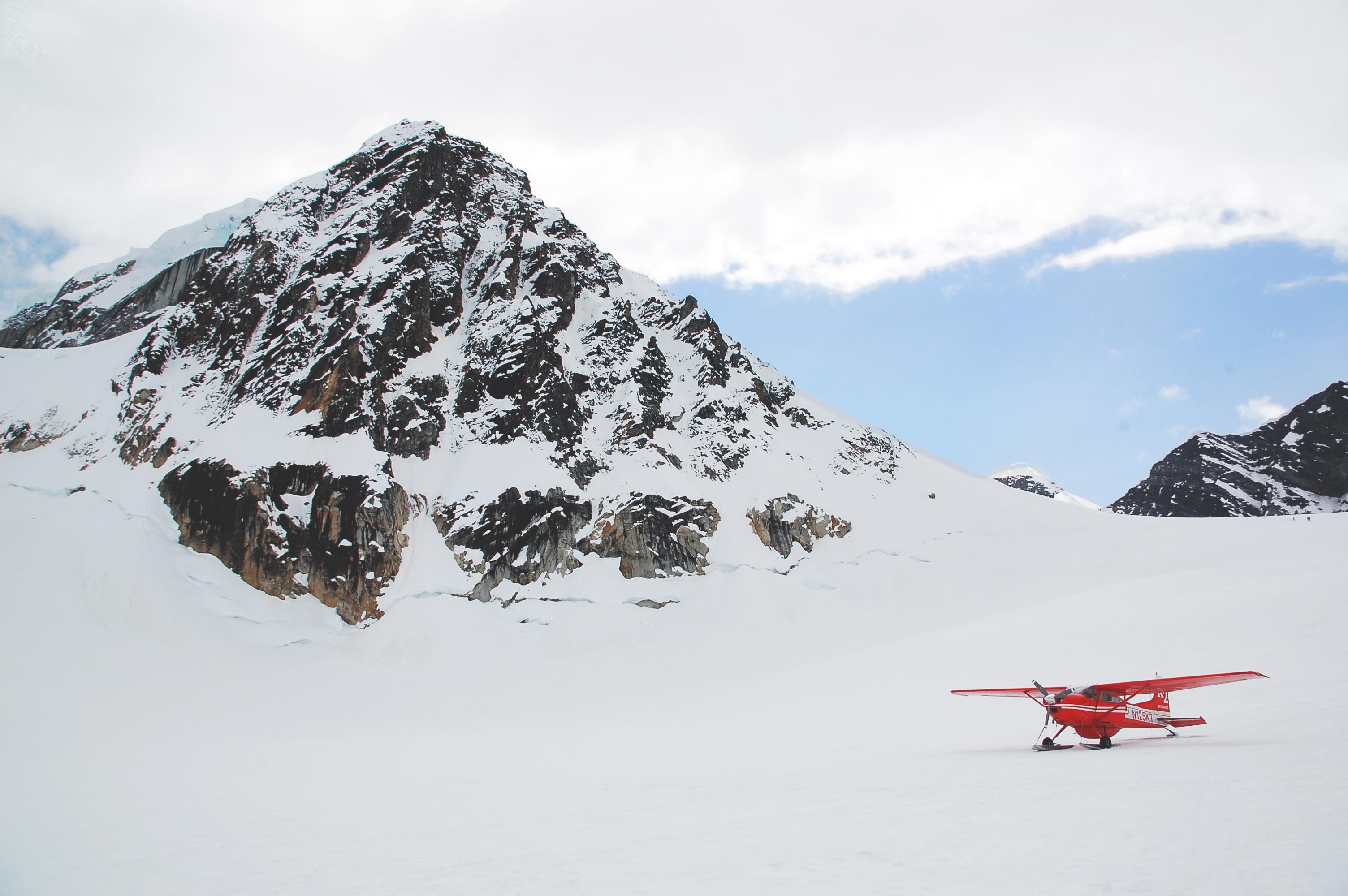 Plane, Ice, Mountain, Rock, Rocky, HQ Photo