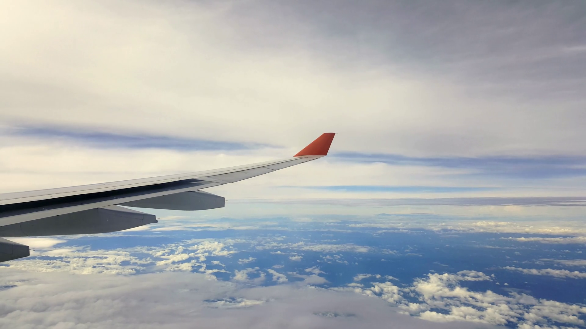 Shot of Plane Wing Over Clouds and Blue Sky Stock Video Footage ...