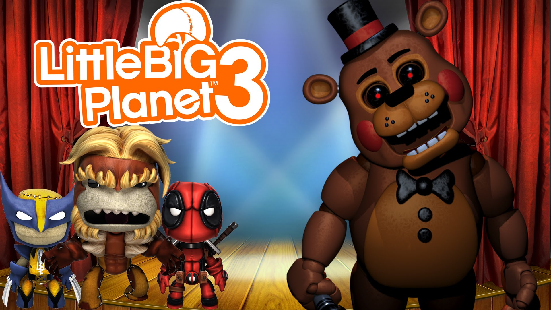 Little Big Planet 3 (PS4) Multiplayer Gameplay: Five Nights At ...