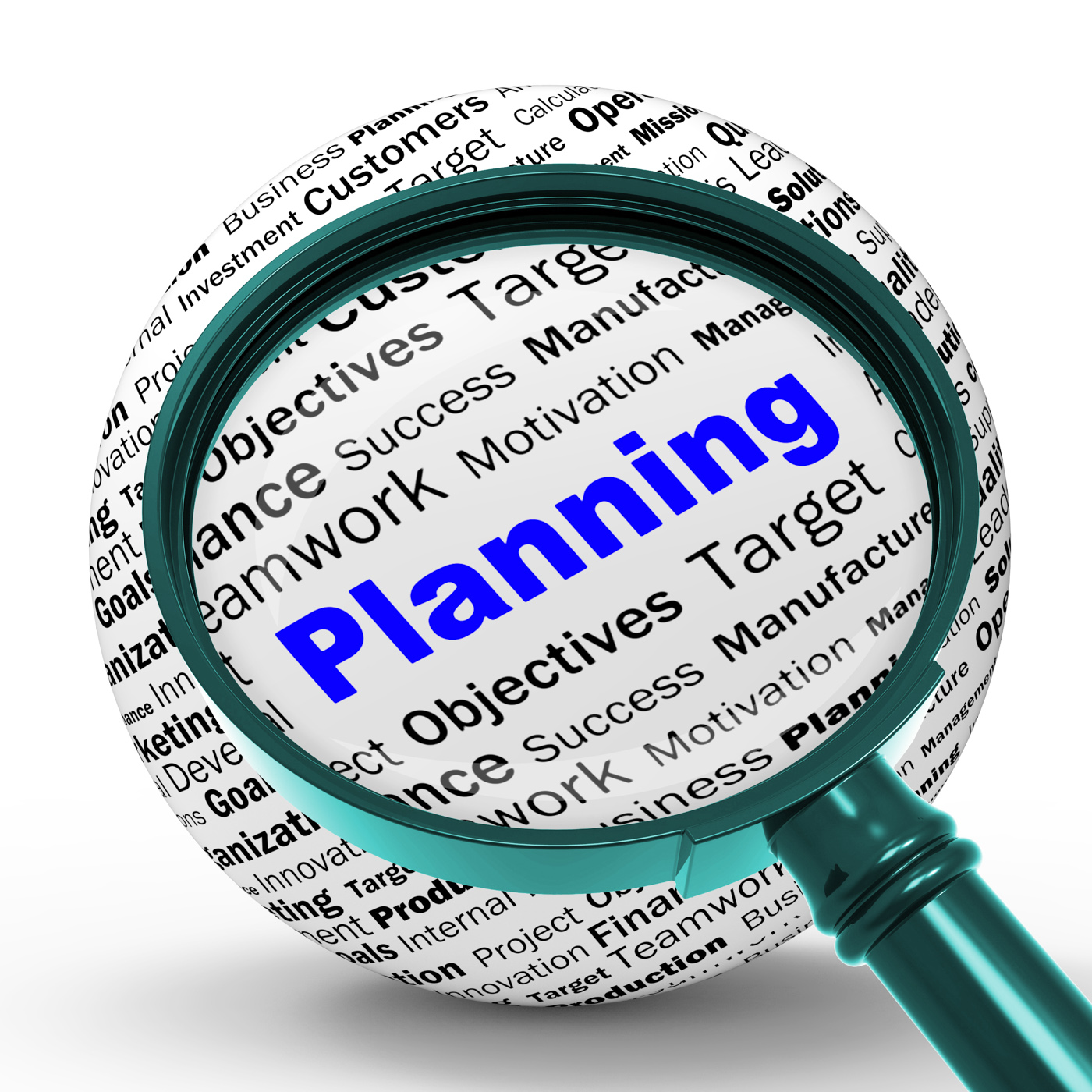 Planning Magnifier Definition Means Mission Planning Or Objectives, Aim, Aims, Aspirations, Aspire, HQ Photo