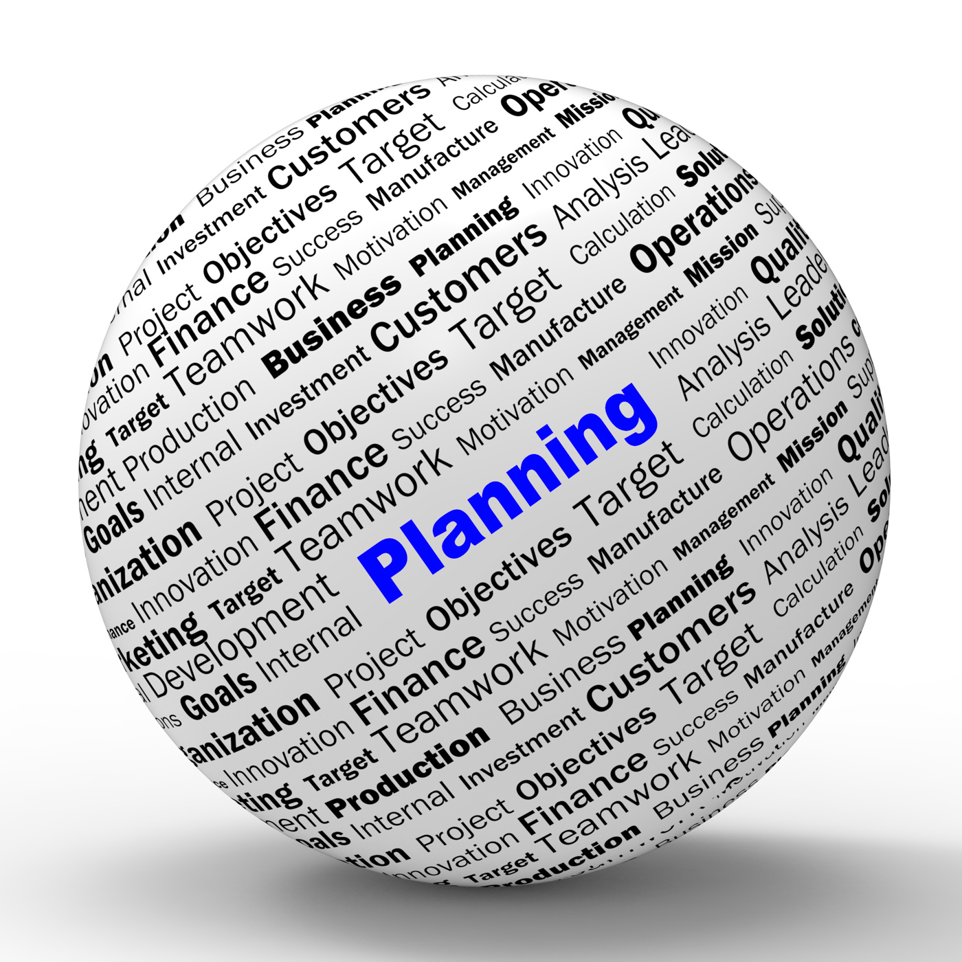Planning sphere definition means mission planning or objectives photo