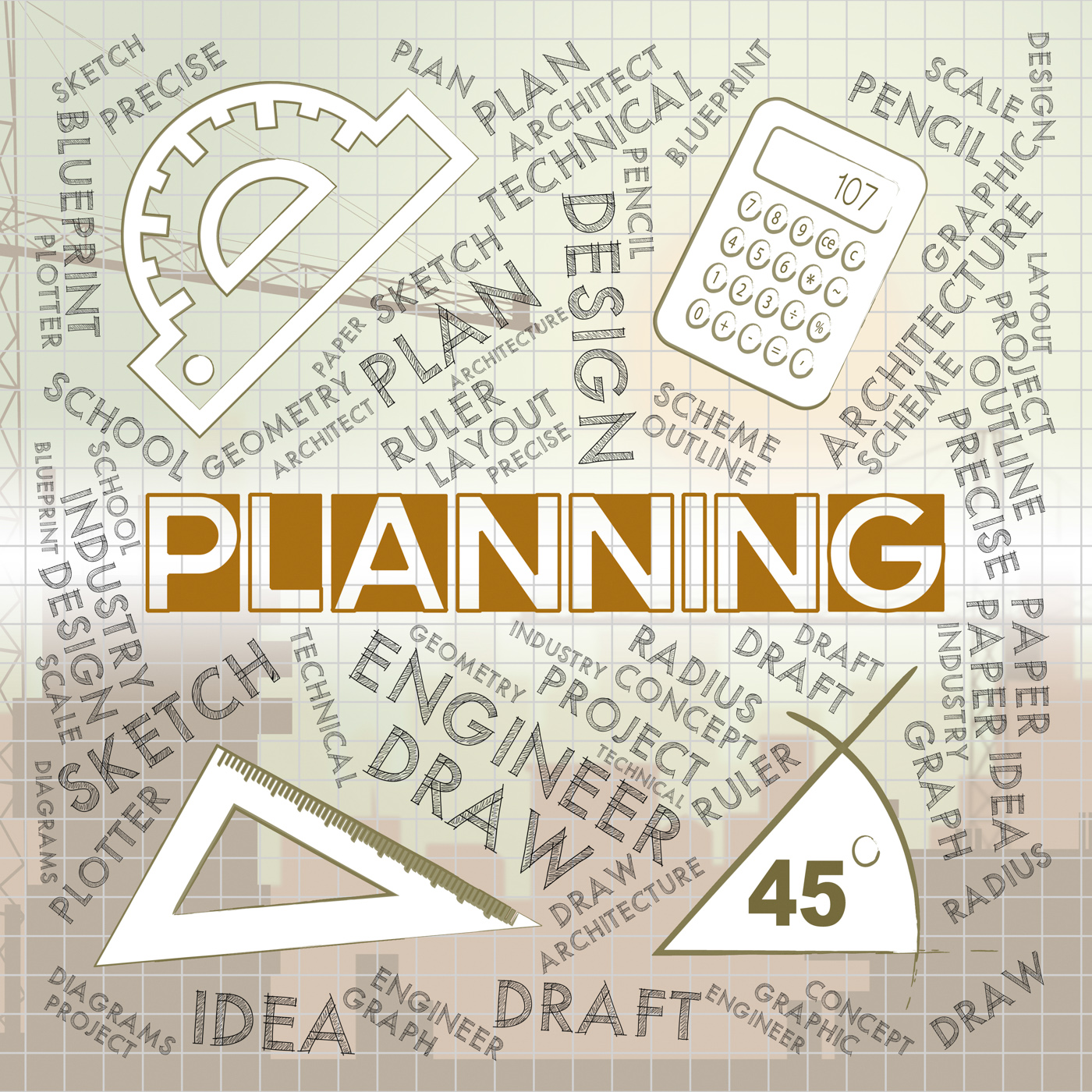 Planning Words Represents Mission Plans And Objectives, Aim, Organizer, Plans, Planning, HQ Photo