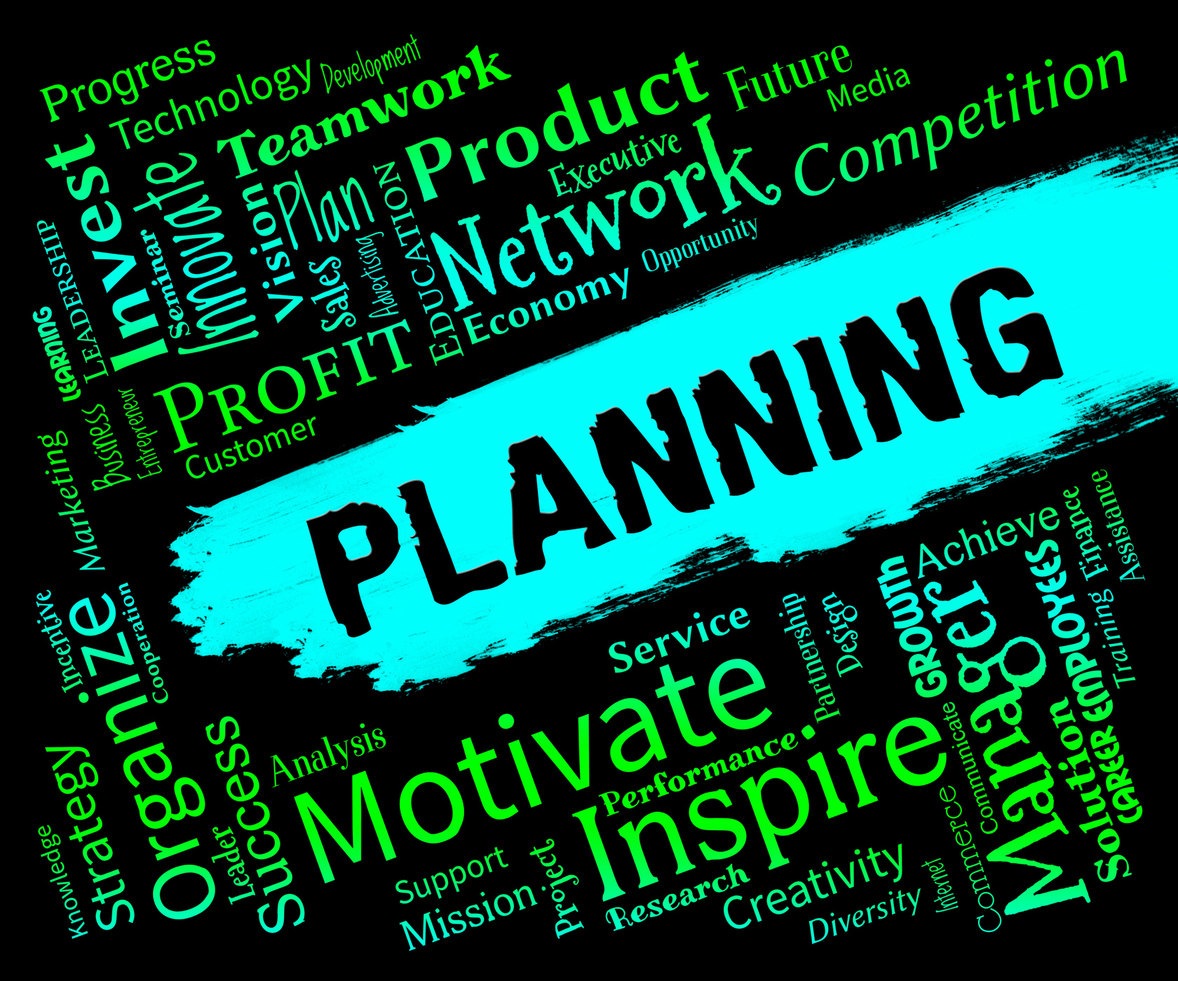 Planning Words Represents Organizer Date And Planner, Aim, Organize, Word, Scheduler, HQ Photo