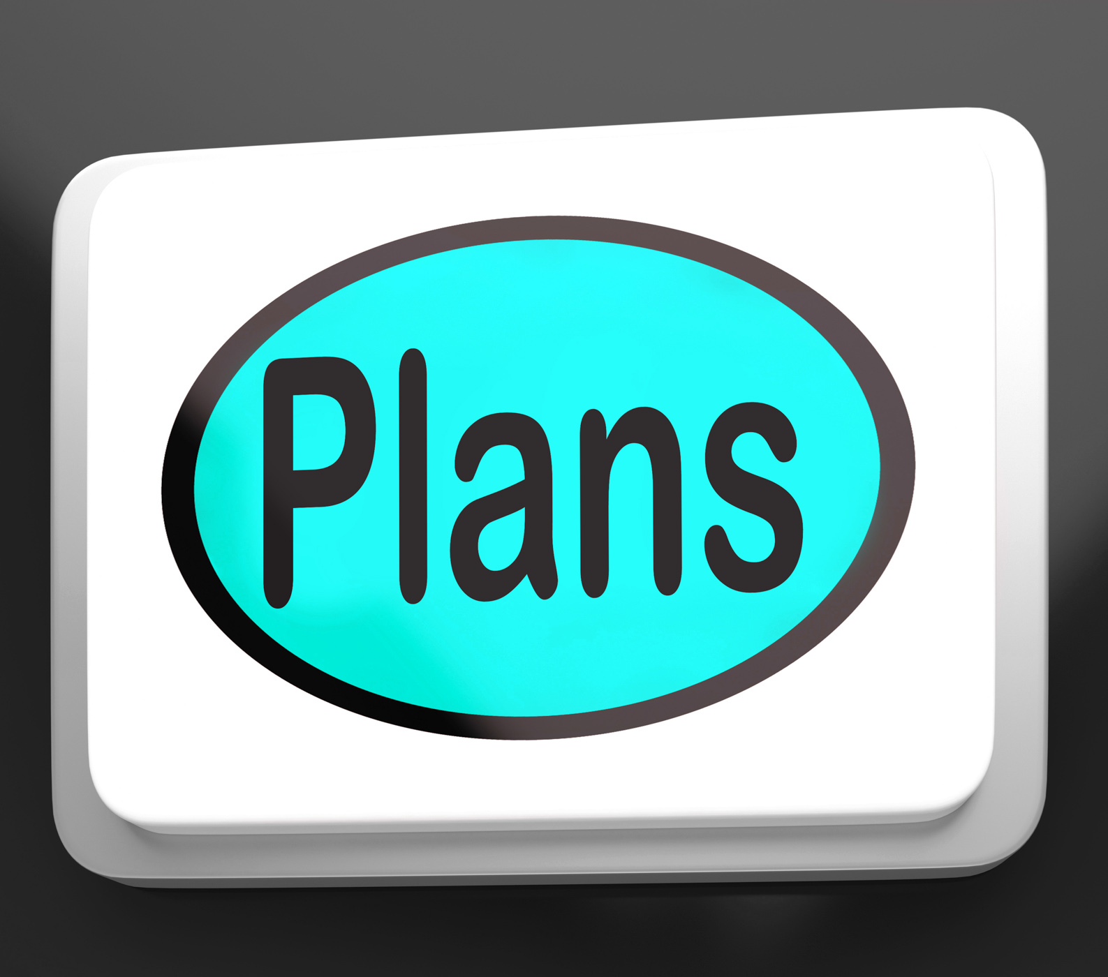 Plans Button Shows Objectives Planning And Organizing, Aim, Aspirations, Aspire, Button, HQ Photo