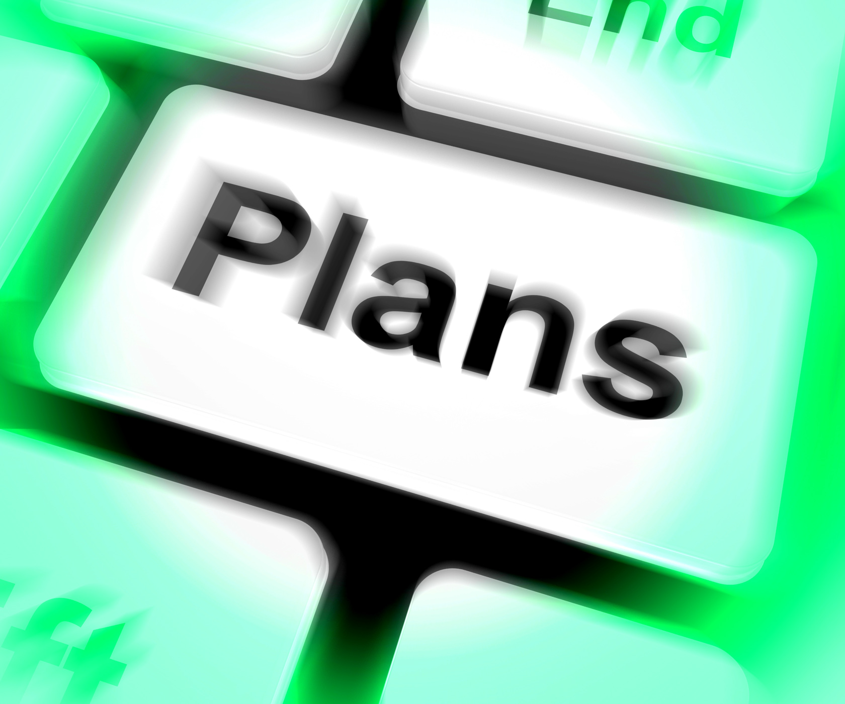 Plans Keyboard Shows Objectives Planning And Organizing, Aim, Missions, Target, Plans, HQ Photo