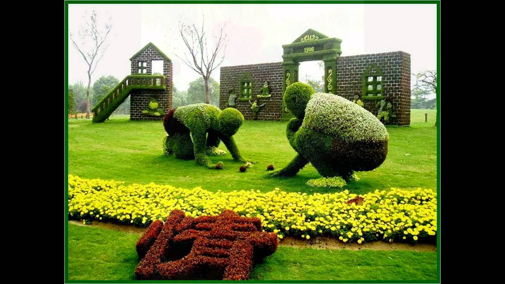 Most Amazing Living Plant Sculptures - YouTube