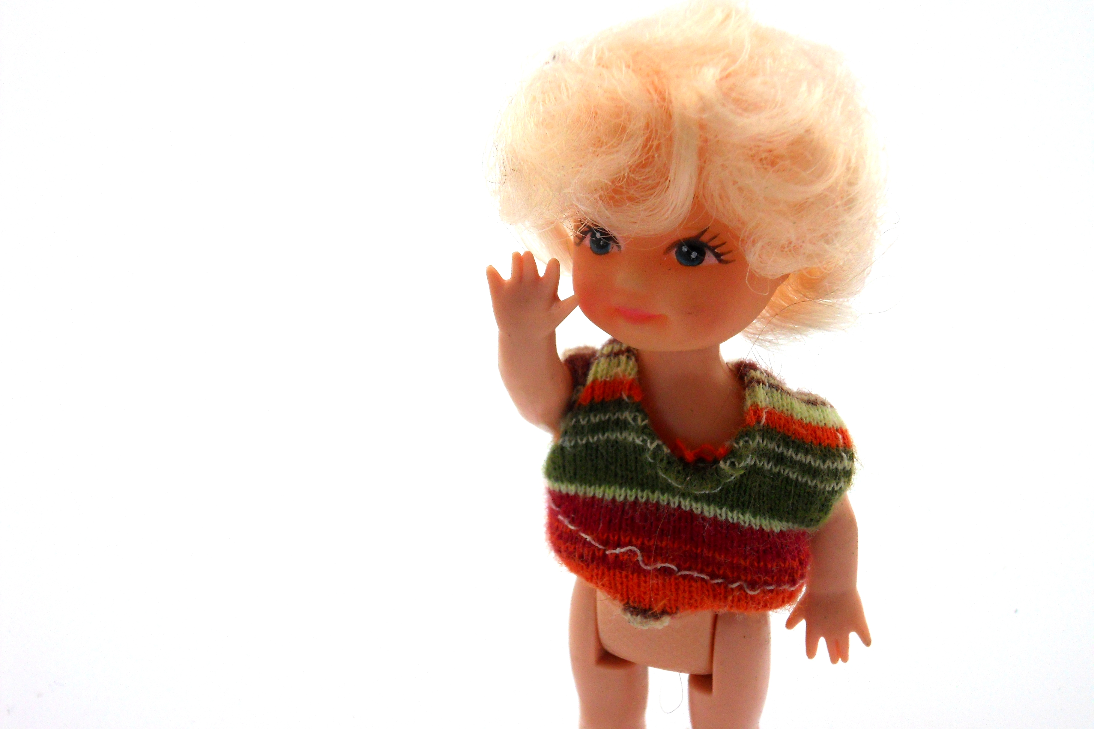 Plastic doll figure photo