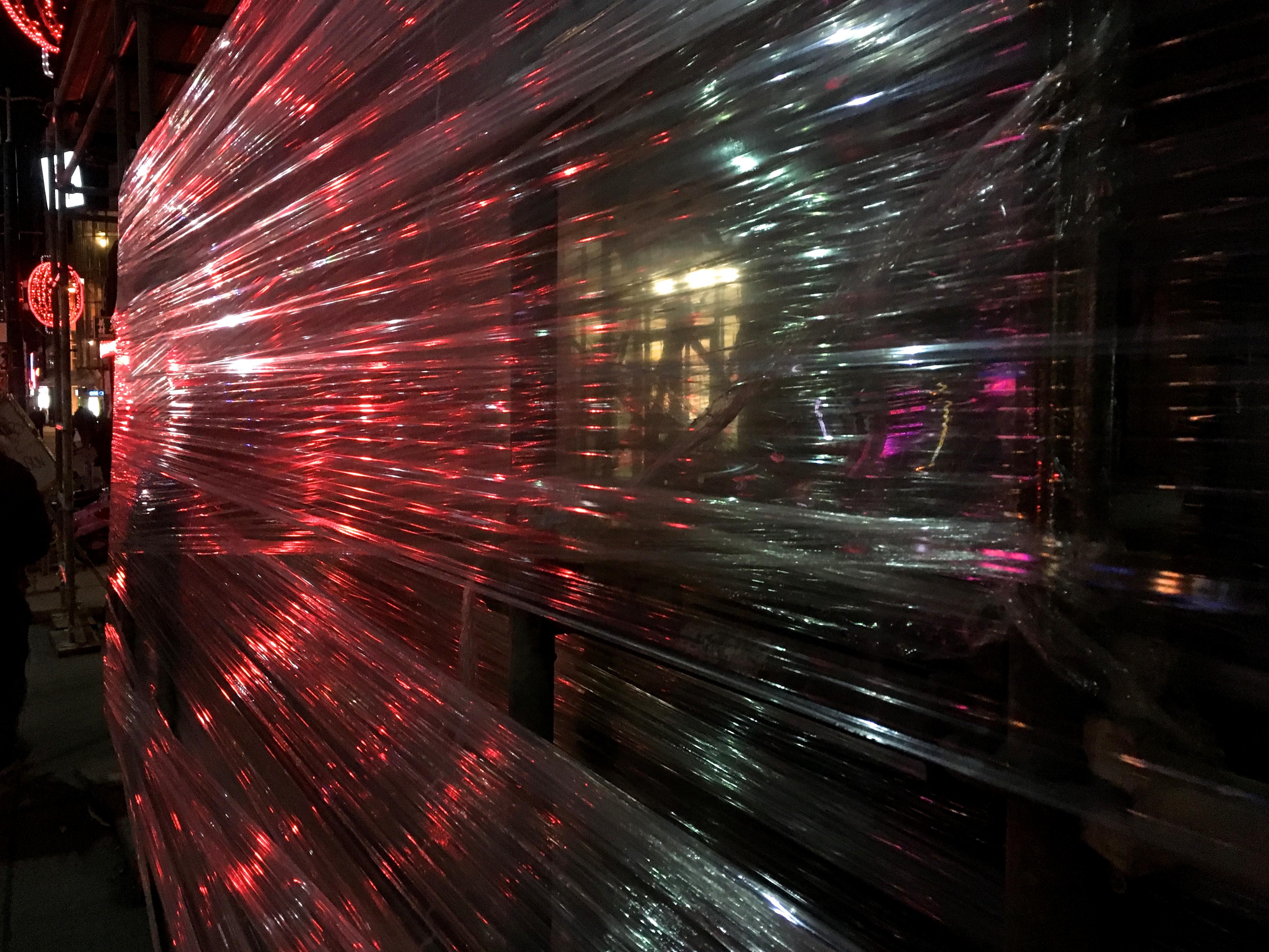 Plastic Light Bow, Abstract, Blur, Night, Texture, HQ Photo