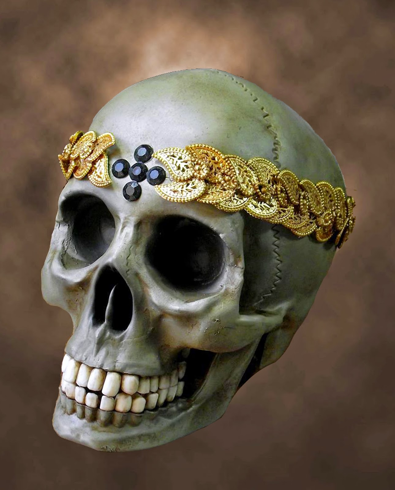 Pirate Viking Painting: Life-sized Saint's Skull
