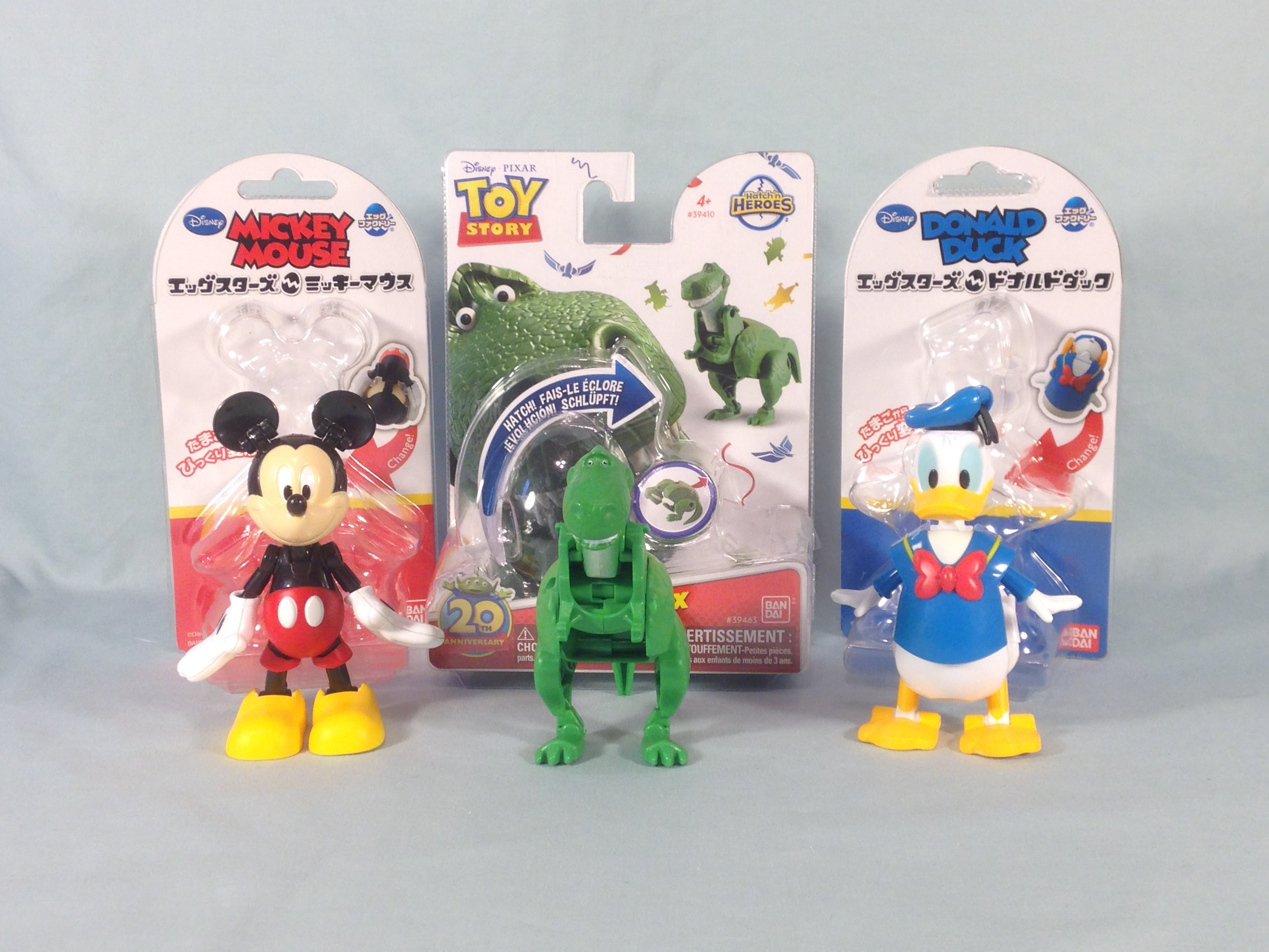 Disney Egg Stars Mickey Mouse and Donald Duck and Toy Story Hatch'n ...