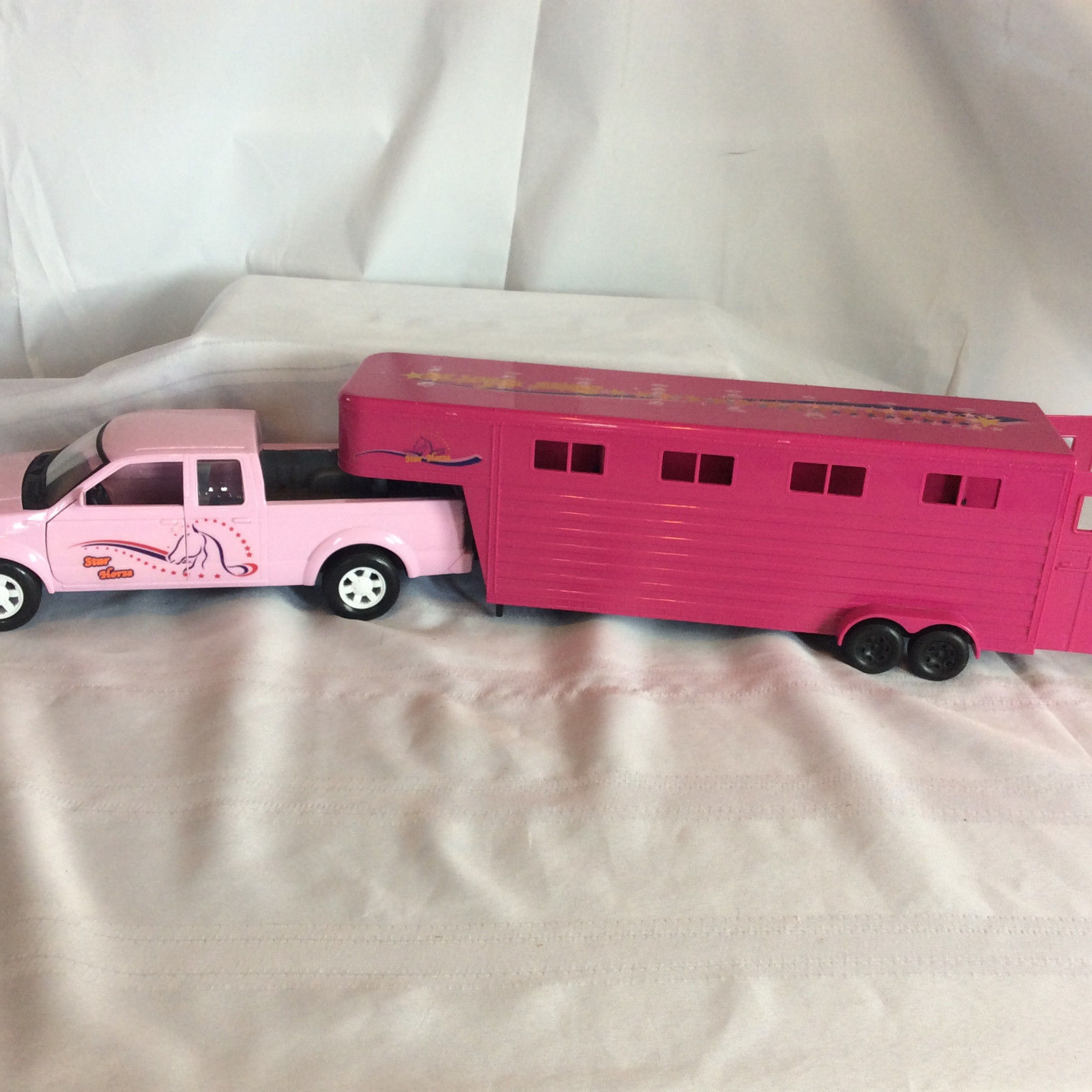 Star Horse Pink Plastic Toy Truck And Horse and 47 similar items