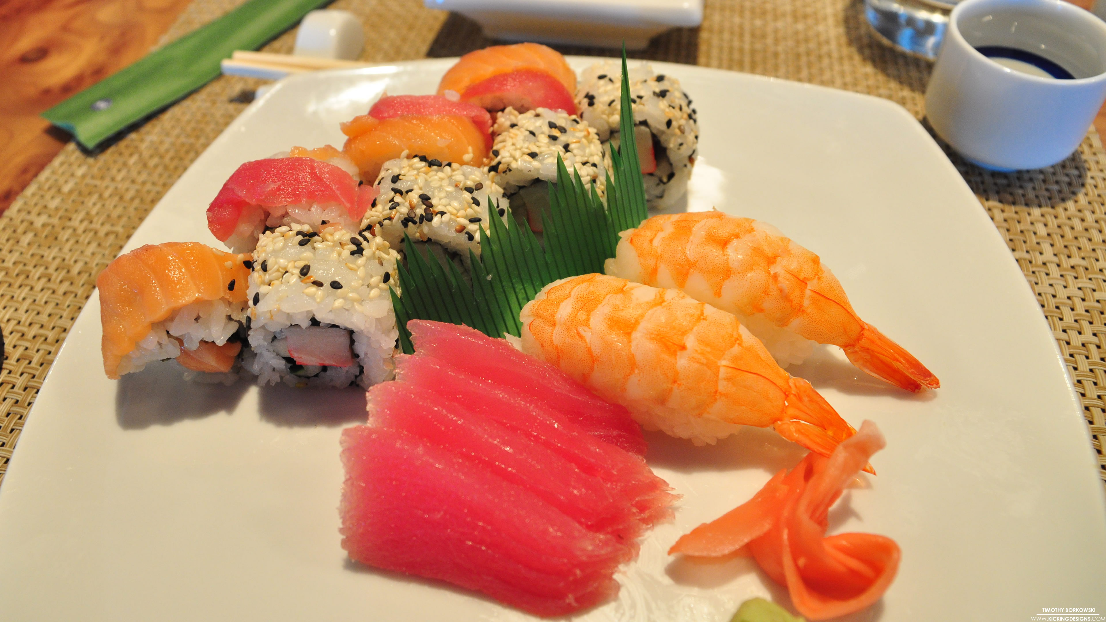 Plate of Sushi 2-25-2014 Wallpaper Background | Kicking Designs