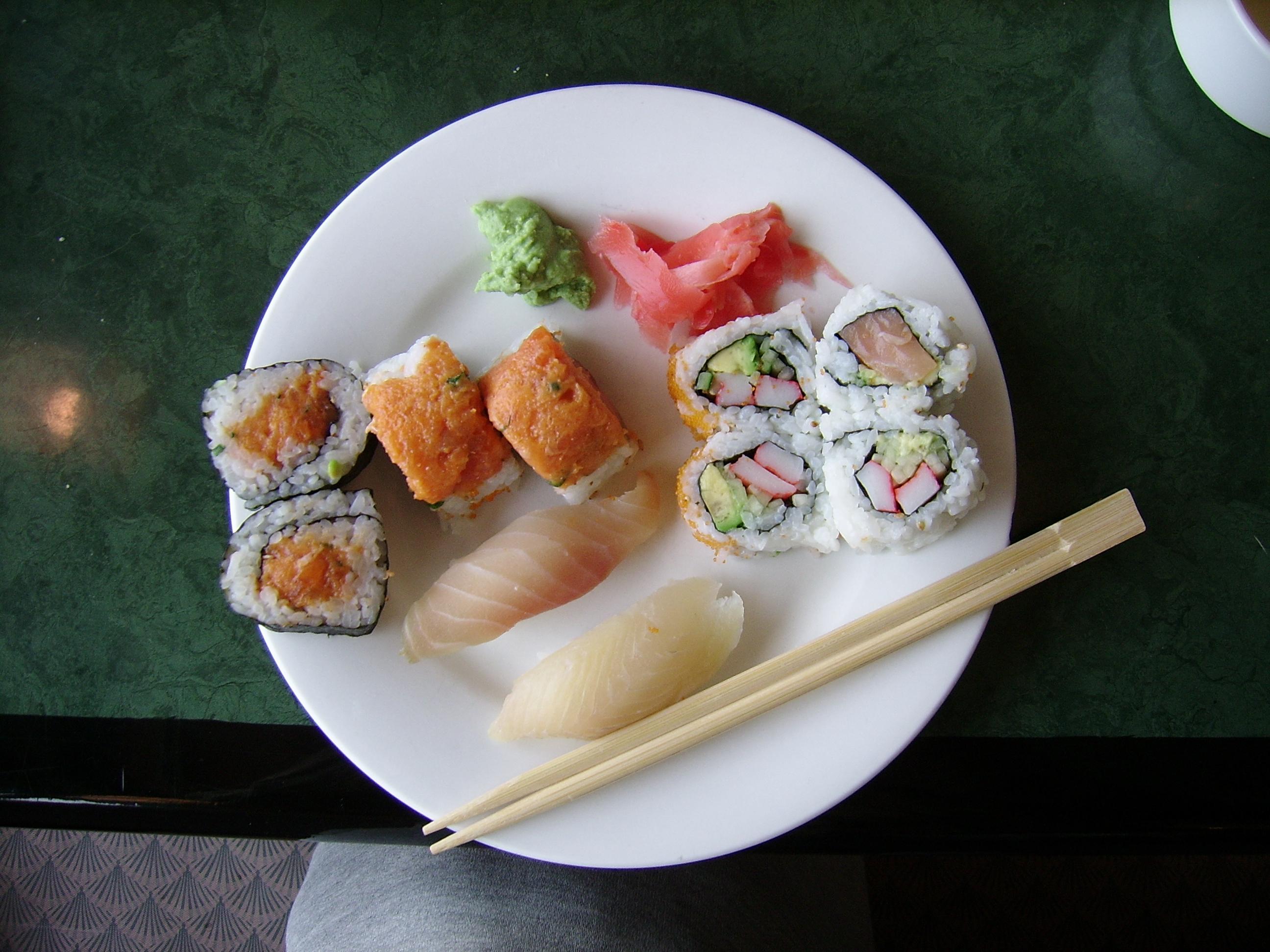 File:Plate of Sushi.jpg - Wikimedia Commons