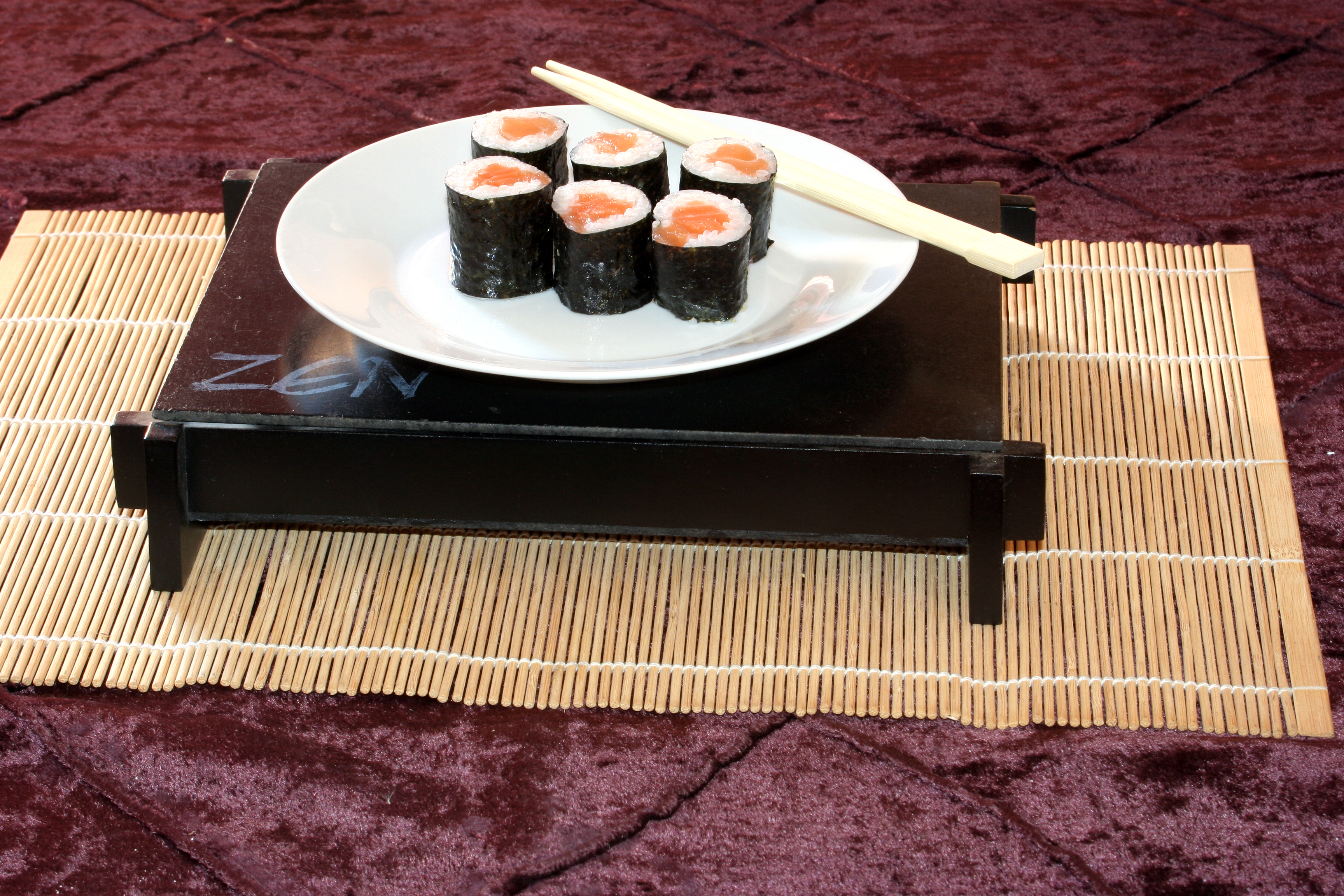 Plate of sushi, Assorted, Oriental, Wasabi, Traditional, HQ Photo