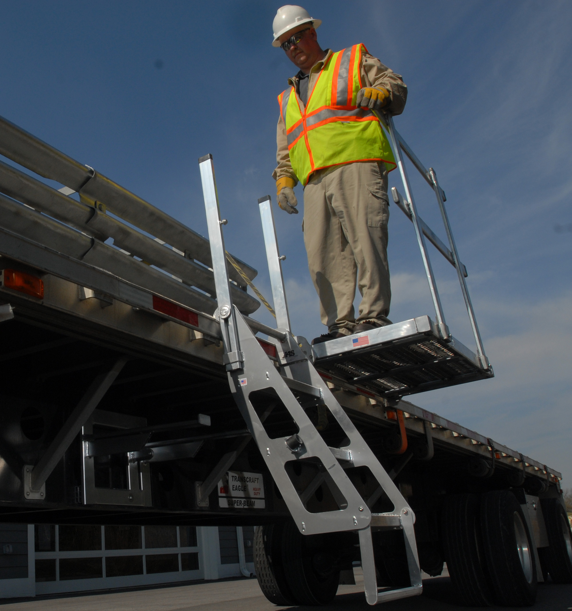 Flatbed Work Platform 4' | Safety Guardrail | Portable Fall Protection