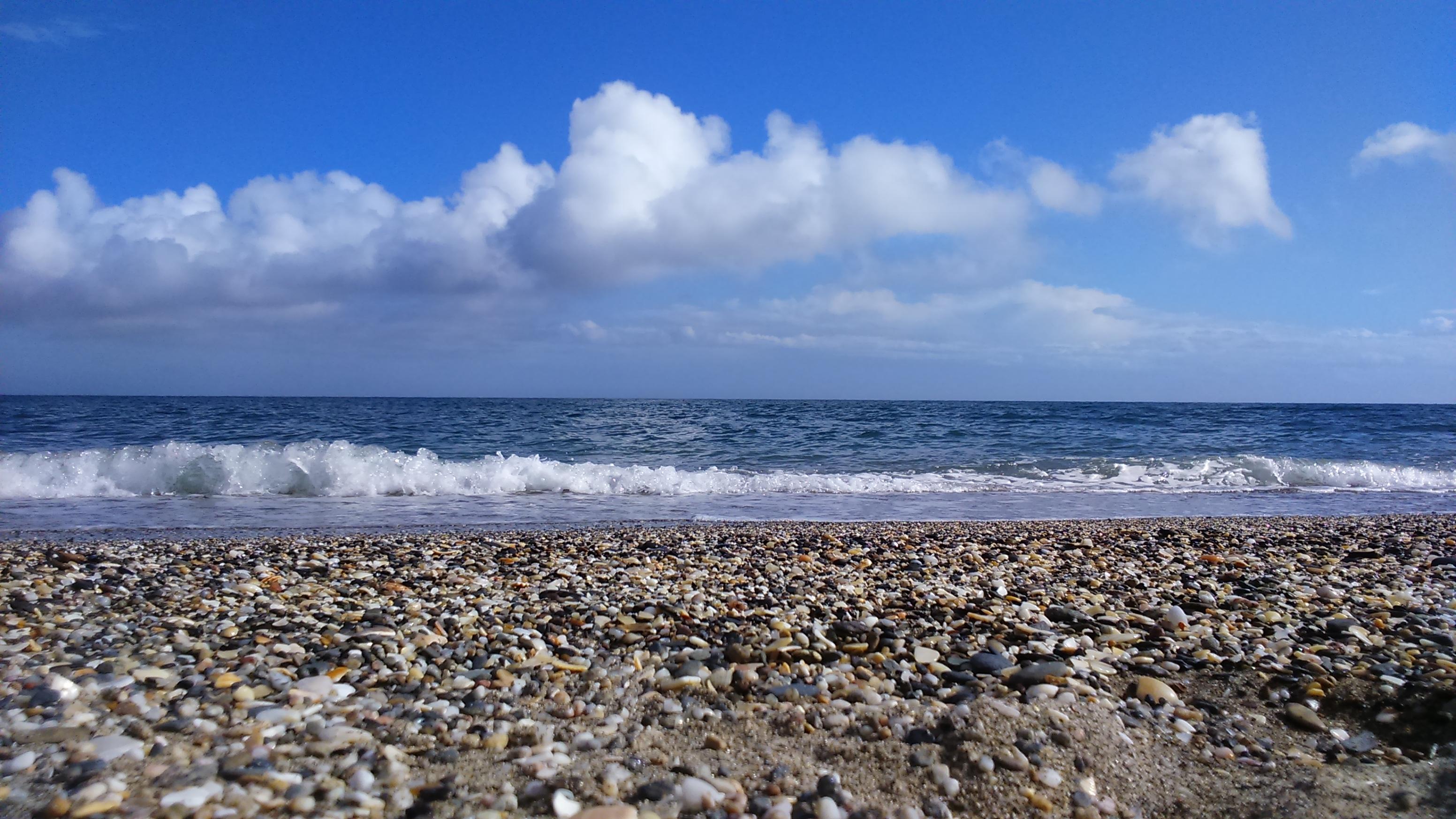 Playa de Mijas 12, Bay, Beach, Cielo, Ocean, HQ Photo
