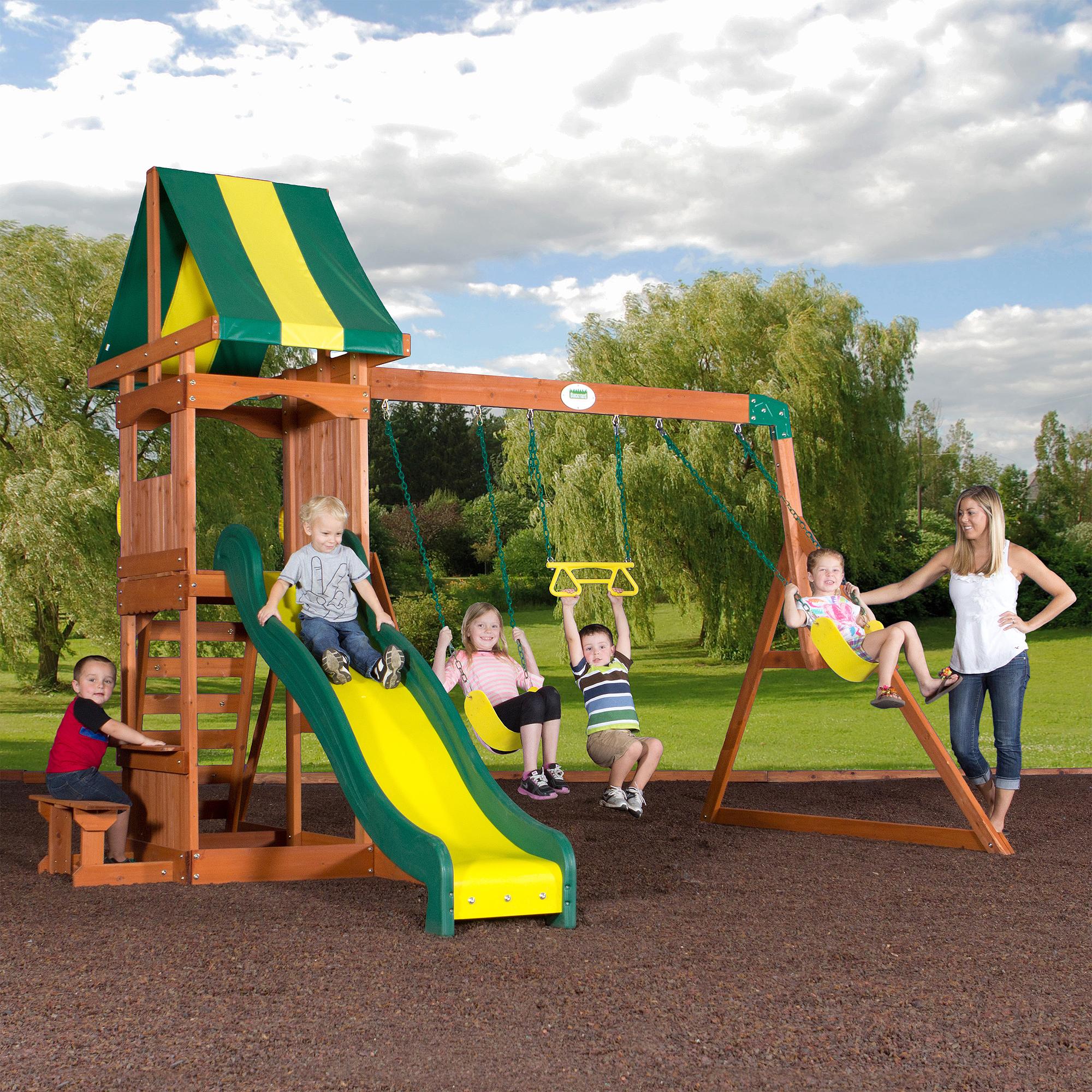 Free Photo Playground Swing Set Playful Playground Recreation