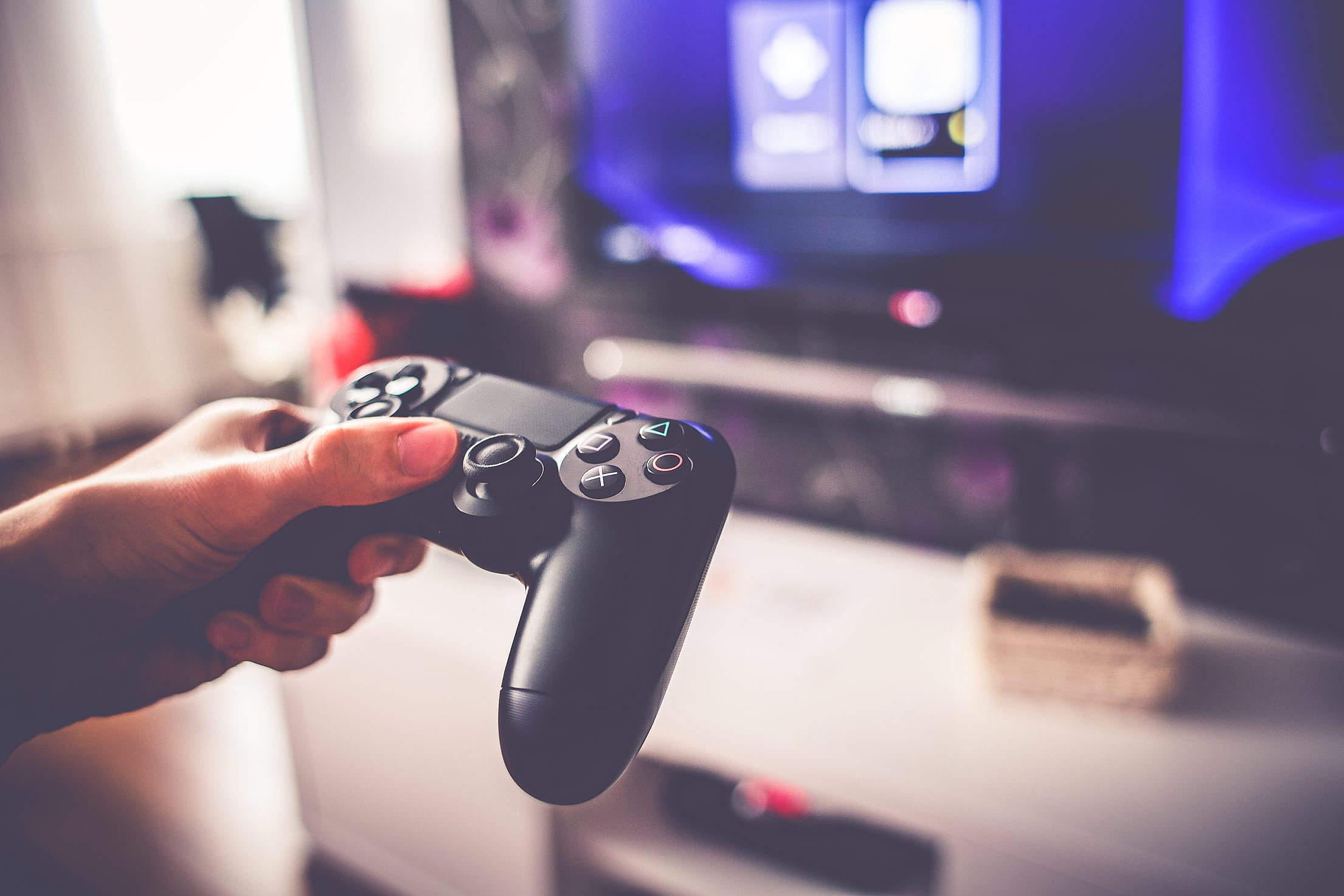 Playing game photo