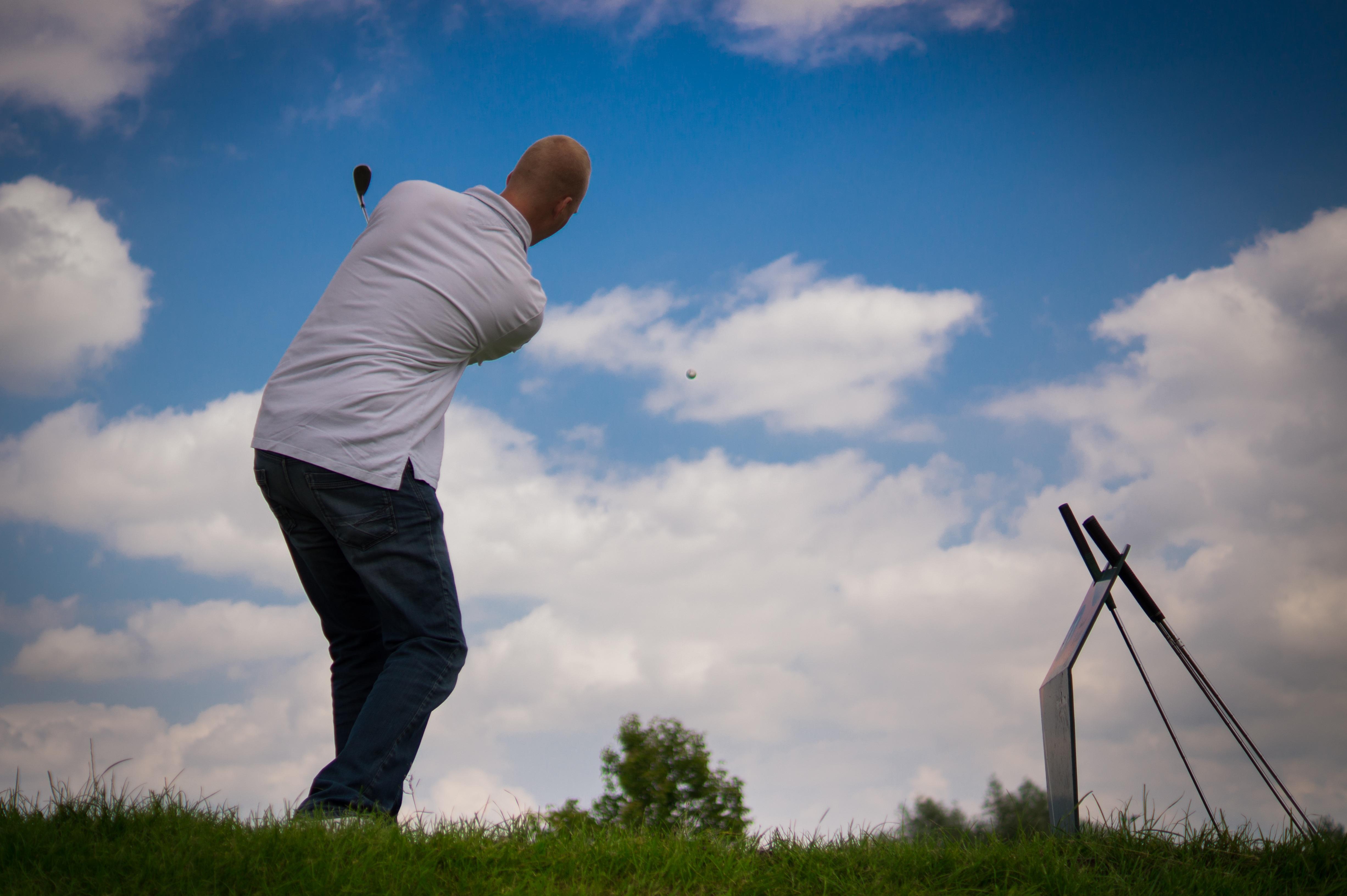 Playing Golf, Activity, Golf, Golfer, Human, HQ Photo
