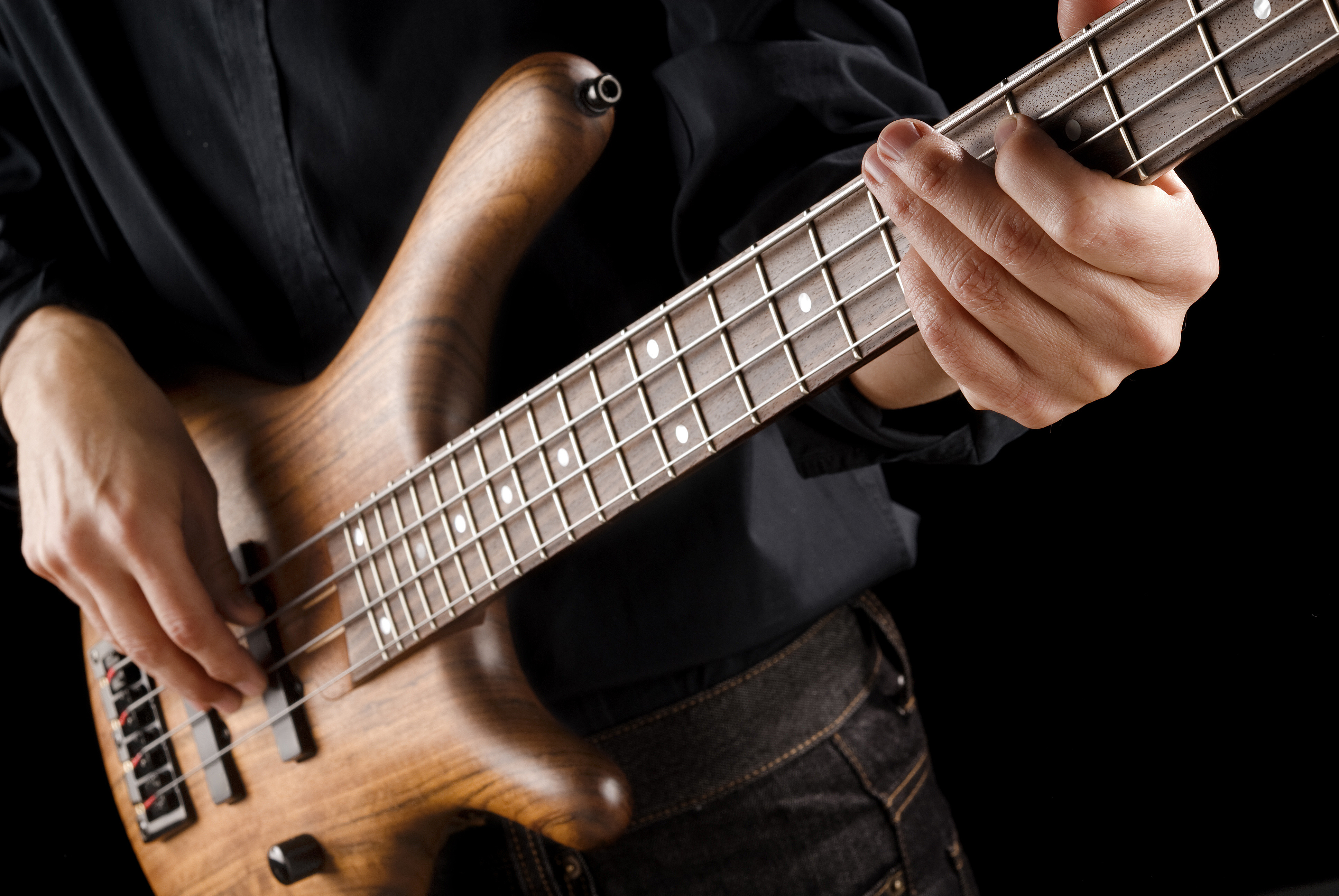Playing the bass photo