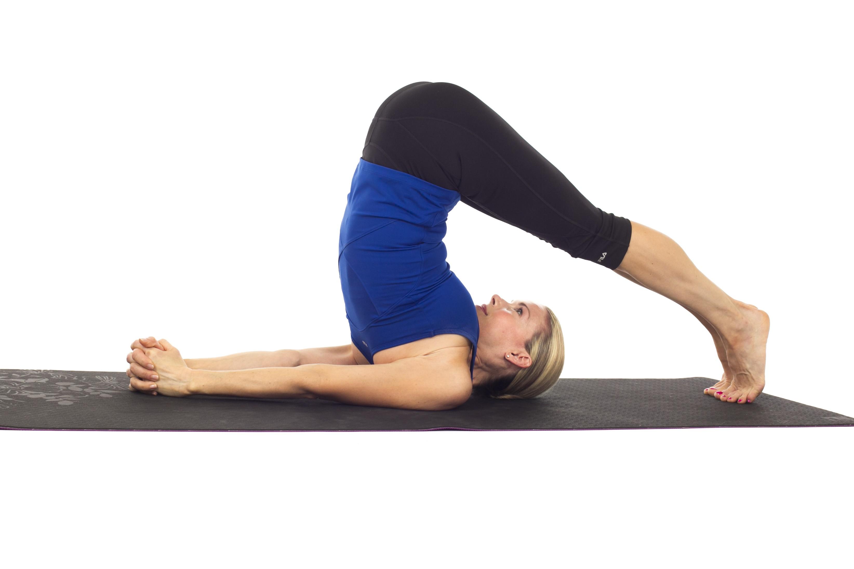 Beautiful Yoga Pose Plough | Ideas for Yoga at Home