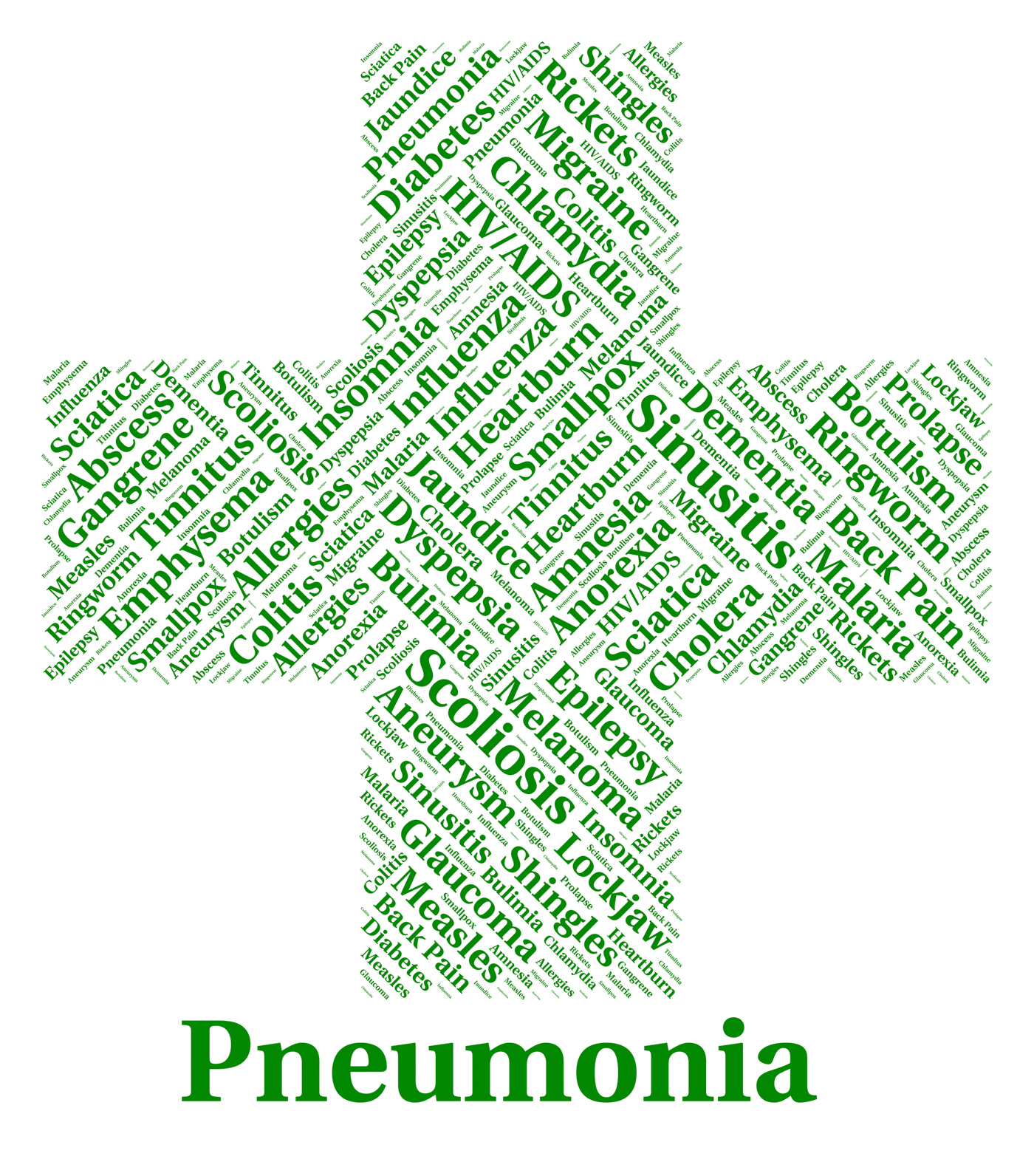 Pneumonia illness represents poor health and ailment photo