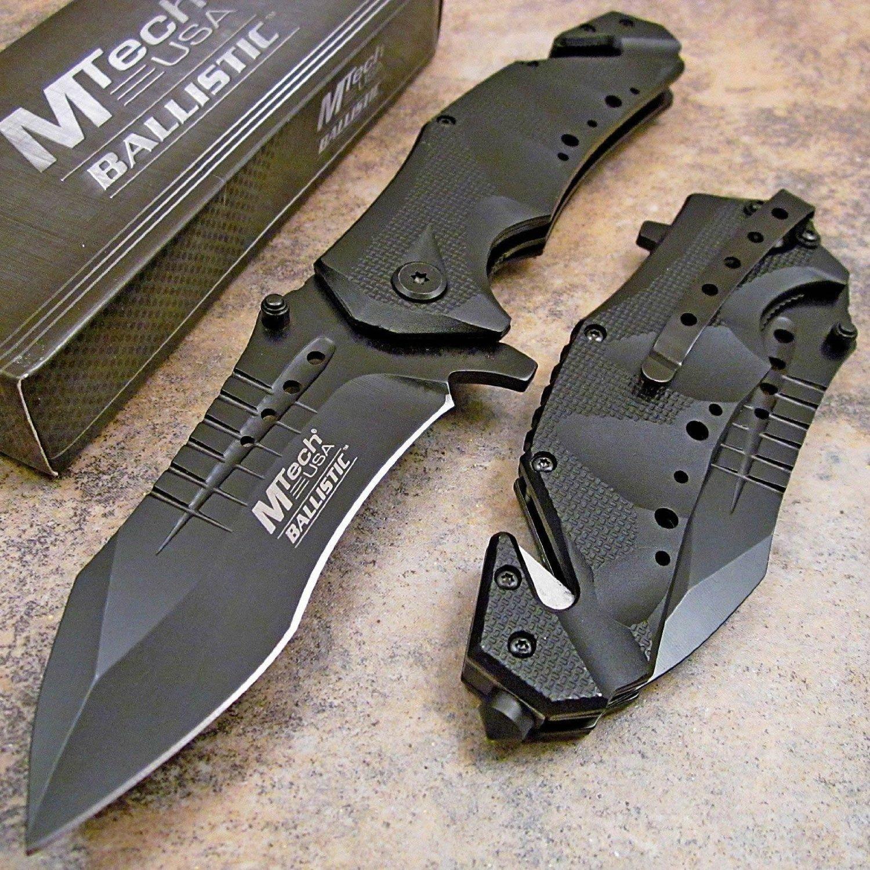 Amazon.com: MTECH USA MT-A845BK Spring Assist Folding Knife, Black ...