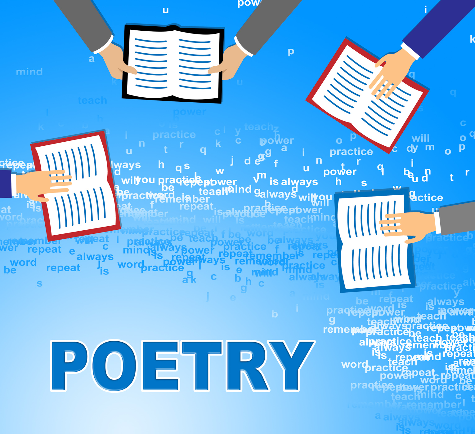 Poetry books means literature information and rhyme photo