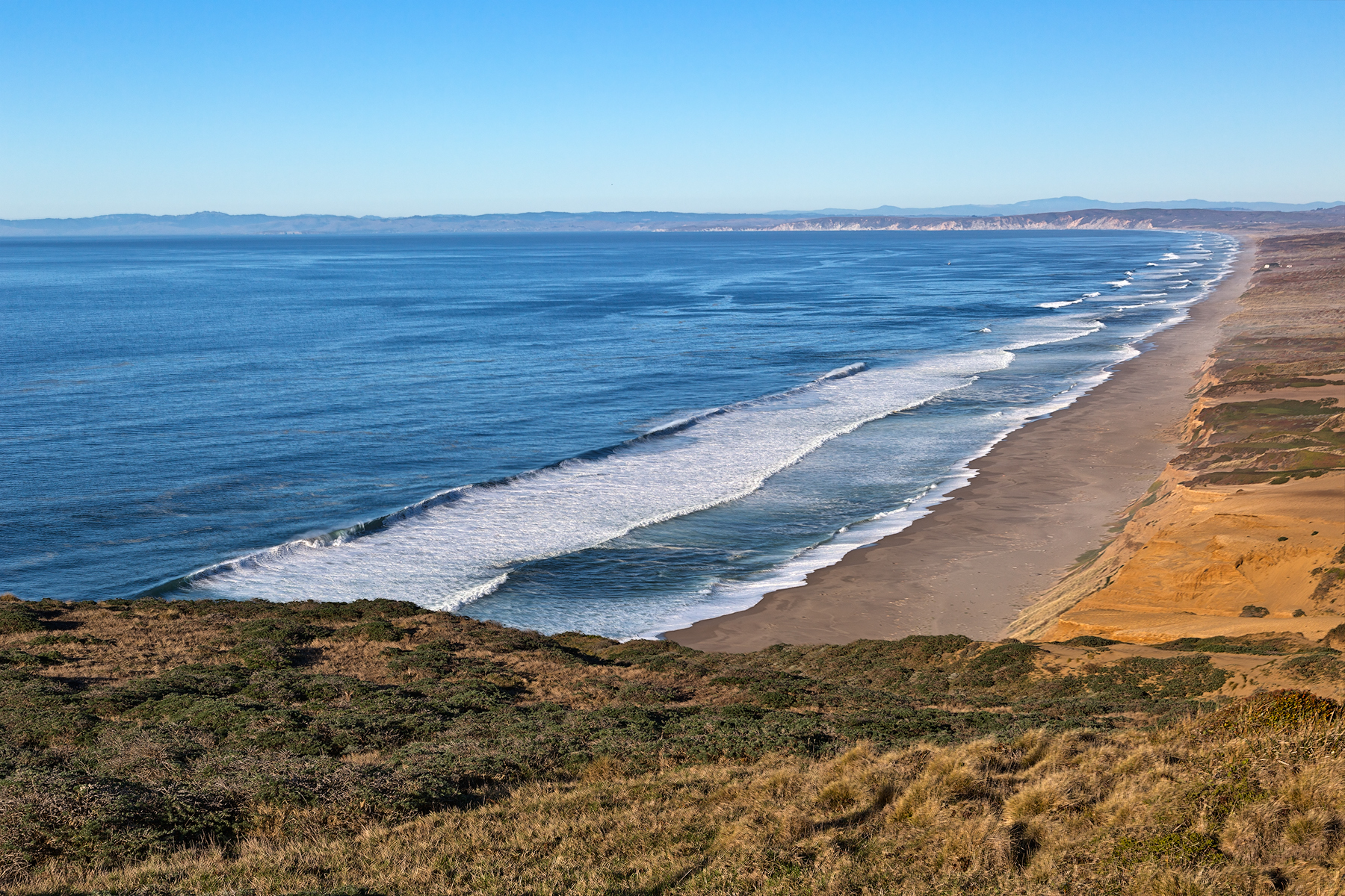 Point Reyes Coastal Scenery - HDR, America, Sandy, Shore, Seashore, HQ Photo