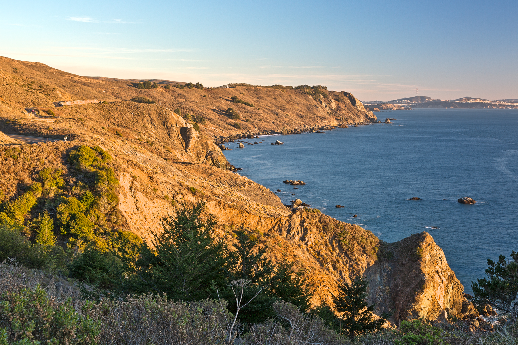 Point reyes sunset coast - hdr photo