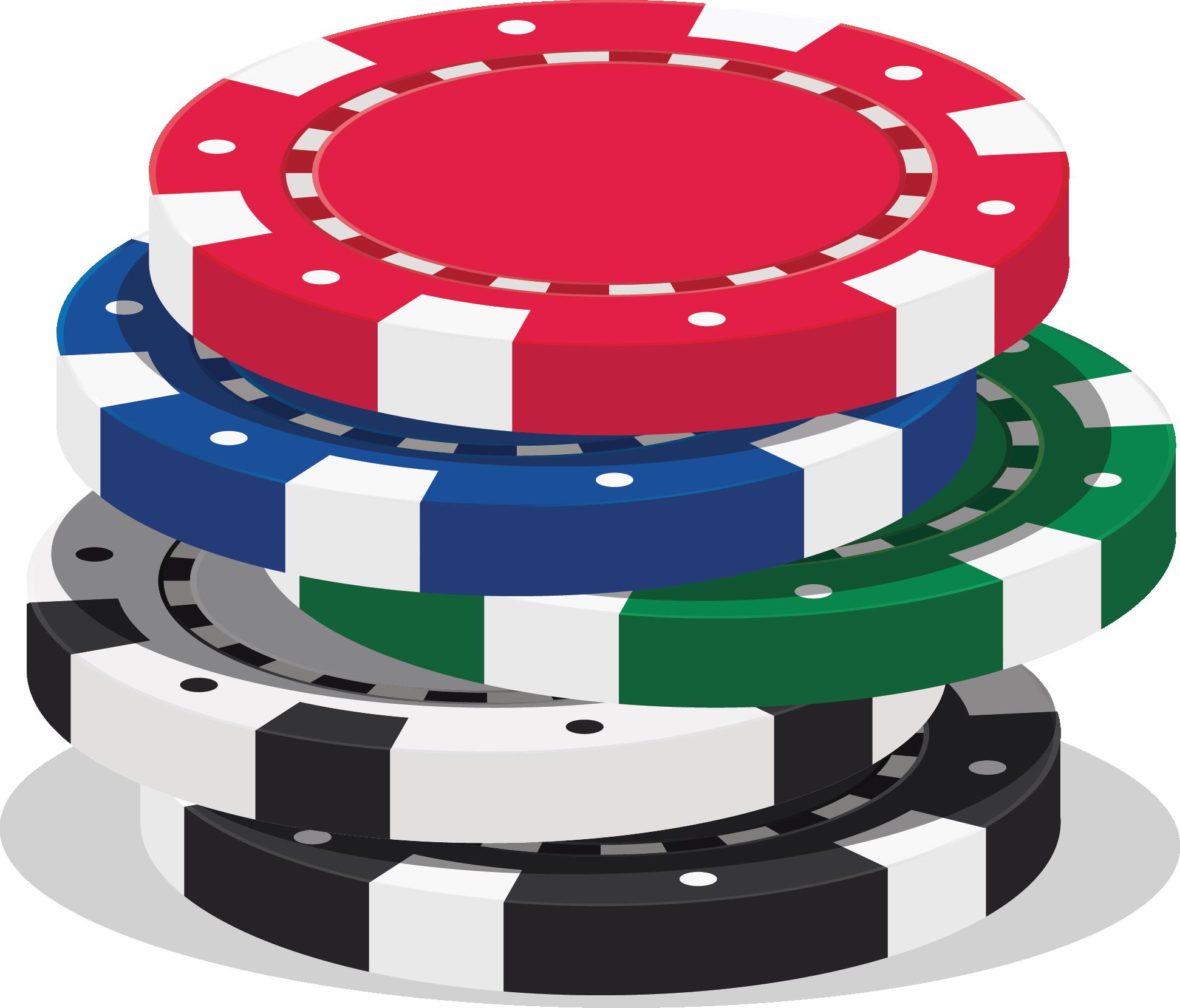 Poker Chip Stack - Chrysalis